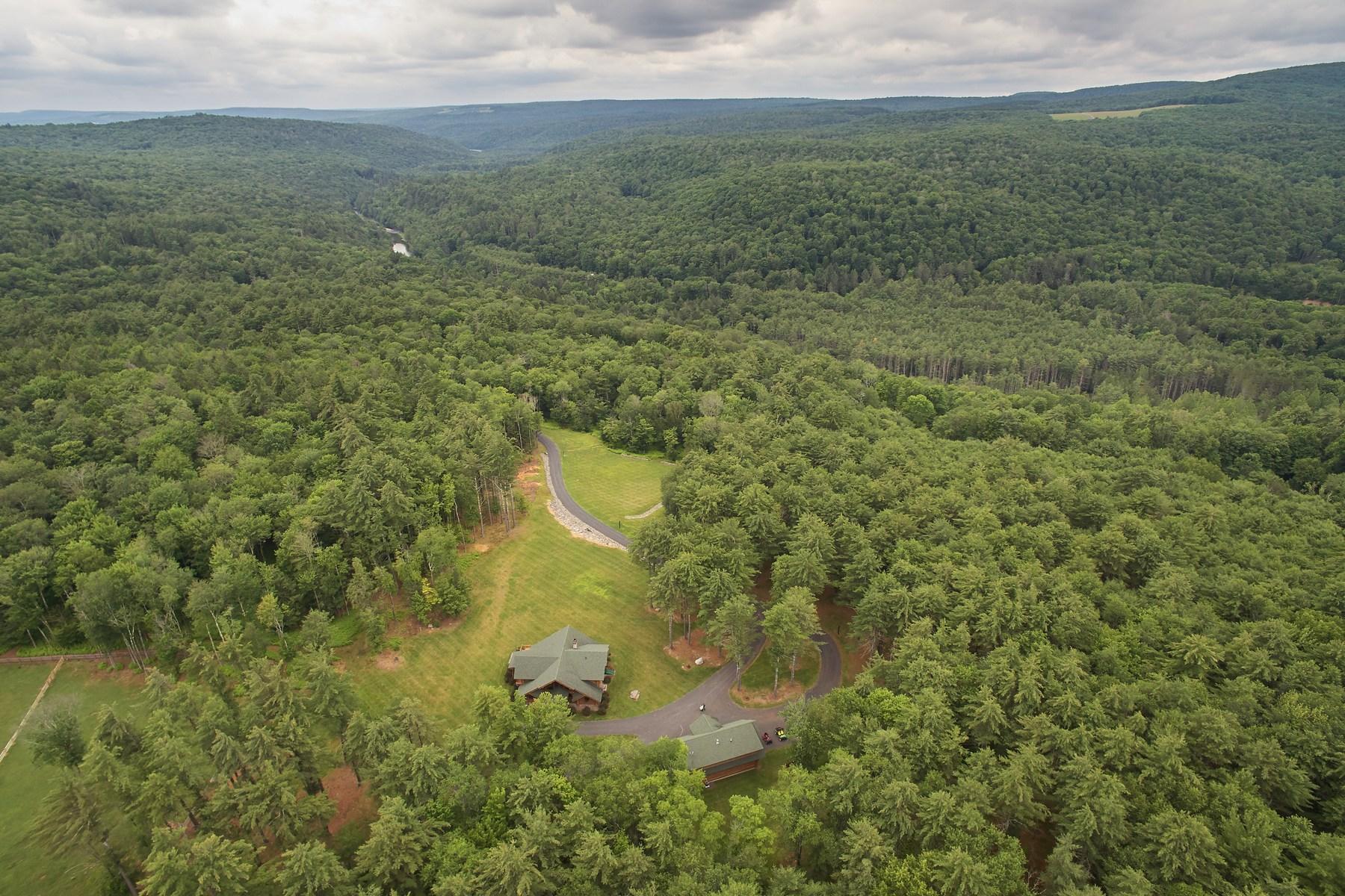 Casa Unifamiliar por un Venta en Hart Ranch in the Catskills 398 Claryville Road Claryville, Nueva York, 12725 Estados Unidos