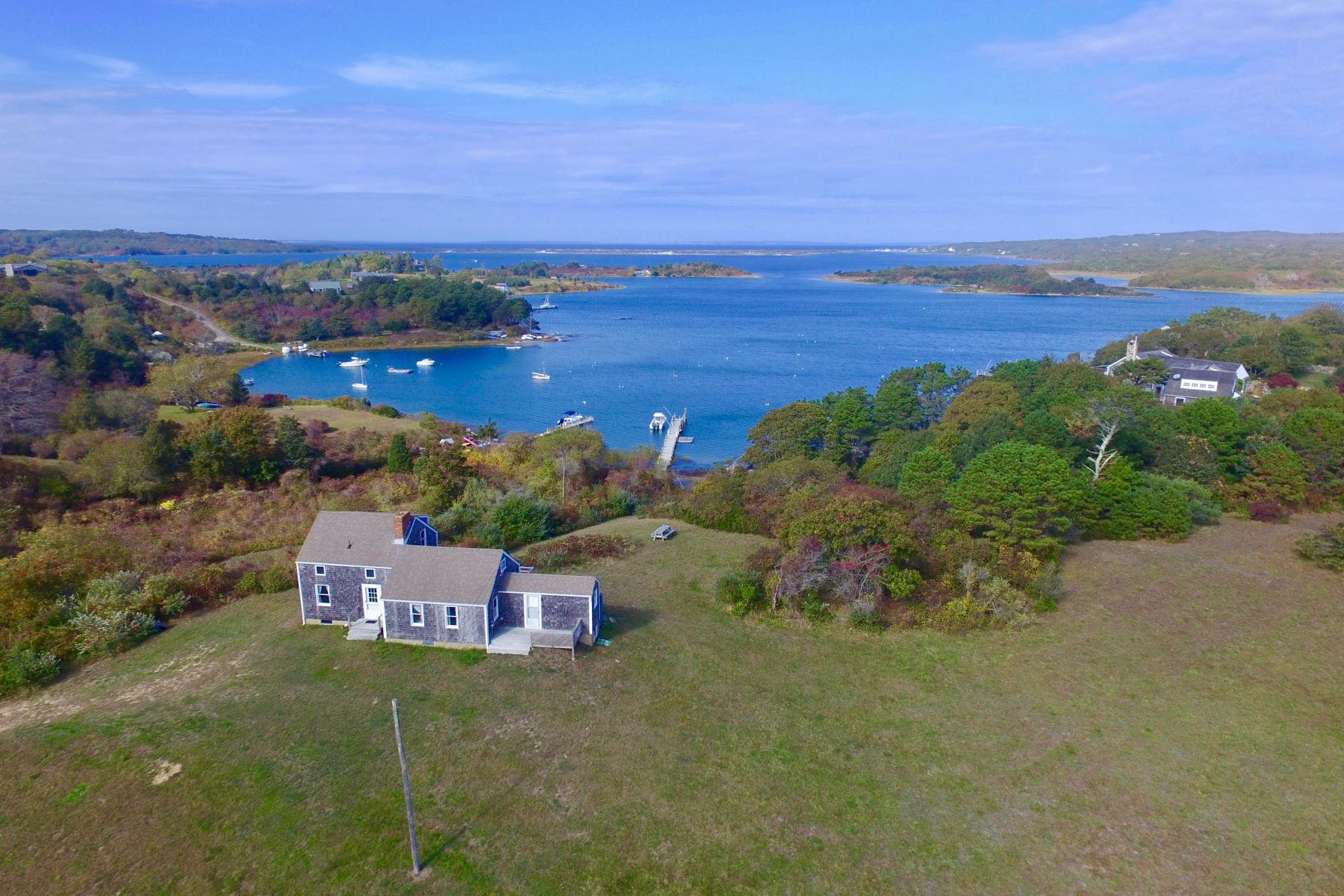 Single Family Home for Sale at Waterfront on Quitsa Pond 199 State Road Chilmark, Massachusetts 02535 United States