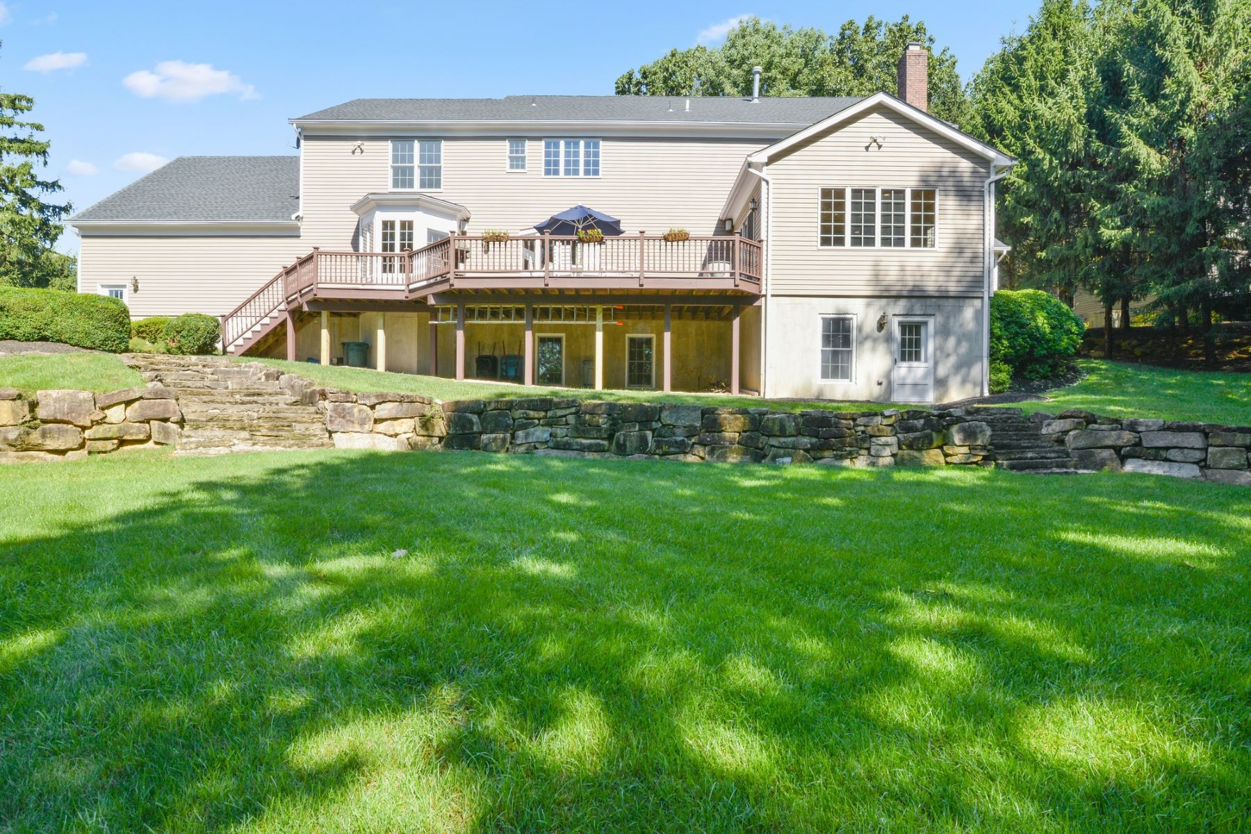 Single Family Homes for Active at Classic Brick Front Colonial 18 White Oak Ridge Court Mendham, New Jersey 07945 United States
