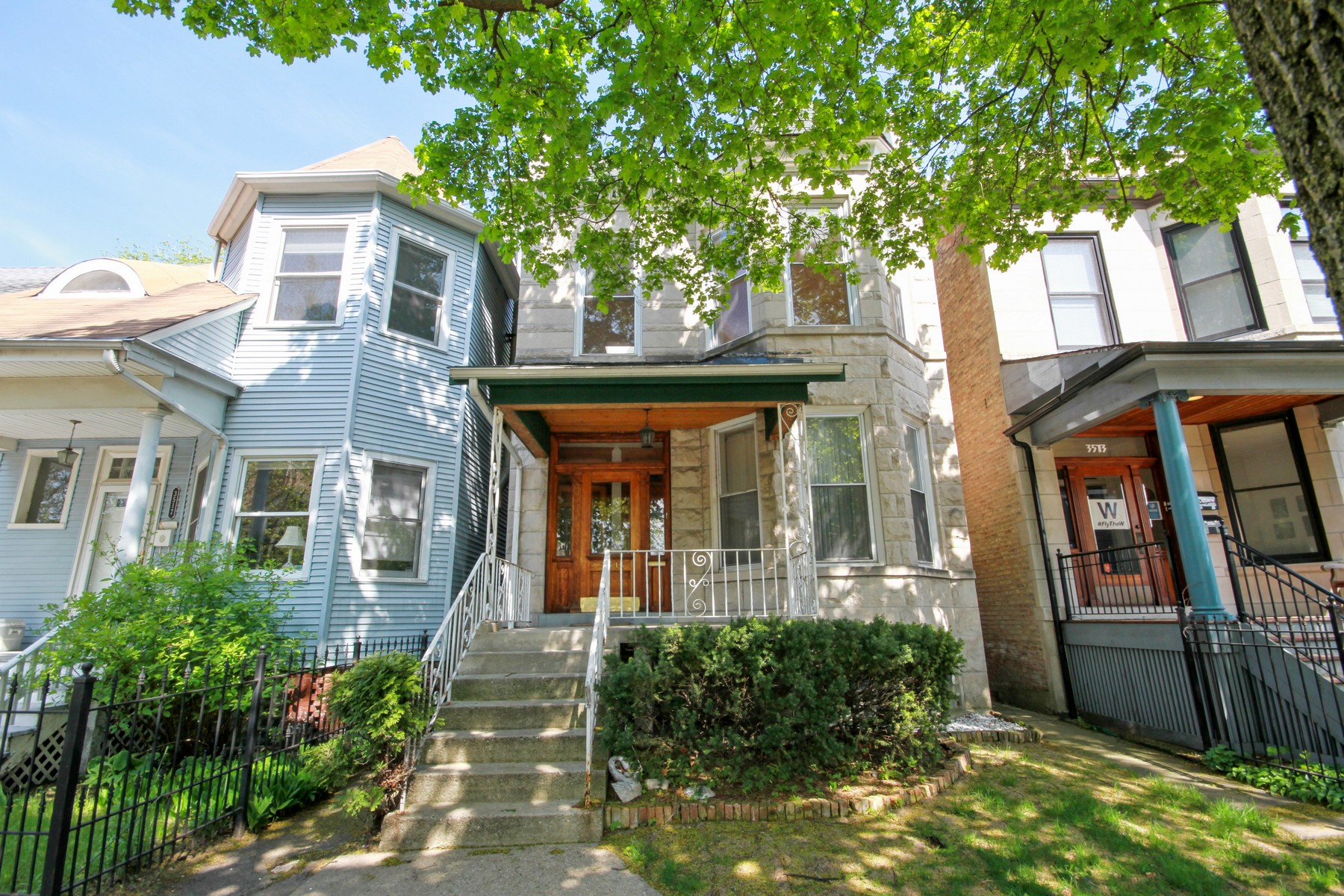 Multi-Family Home for Sale at 2-Flat Greystone in Lakeview 3515 N Marshfield Avenue Chicago, Illinois, 60657 United States