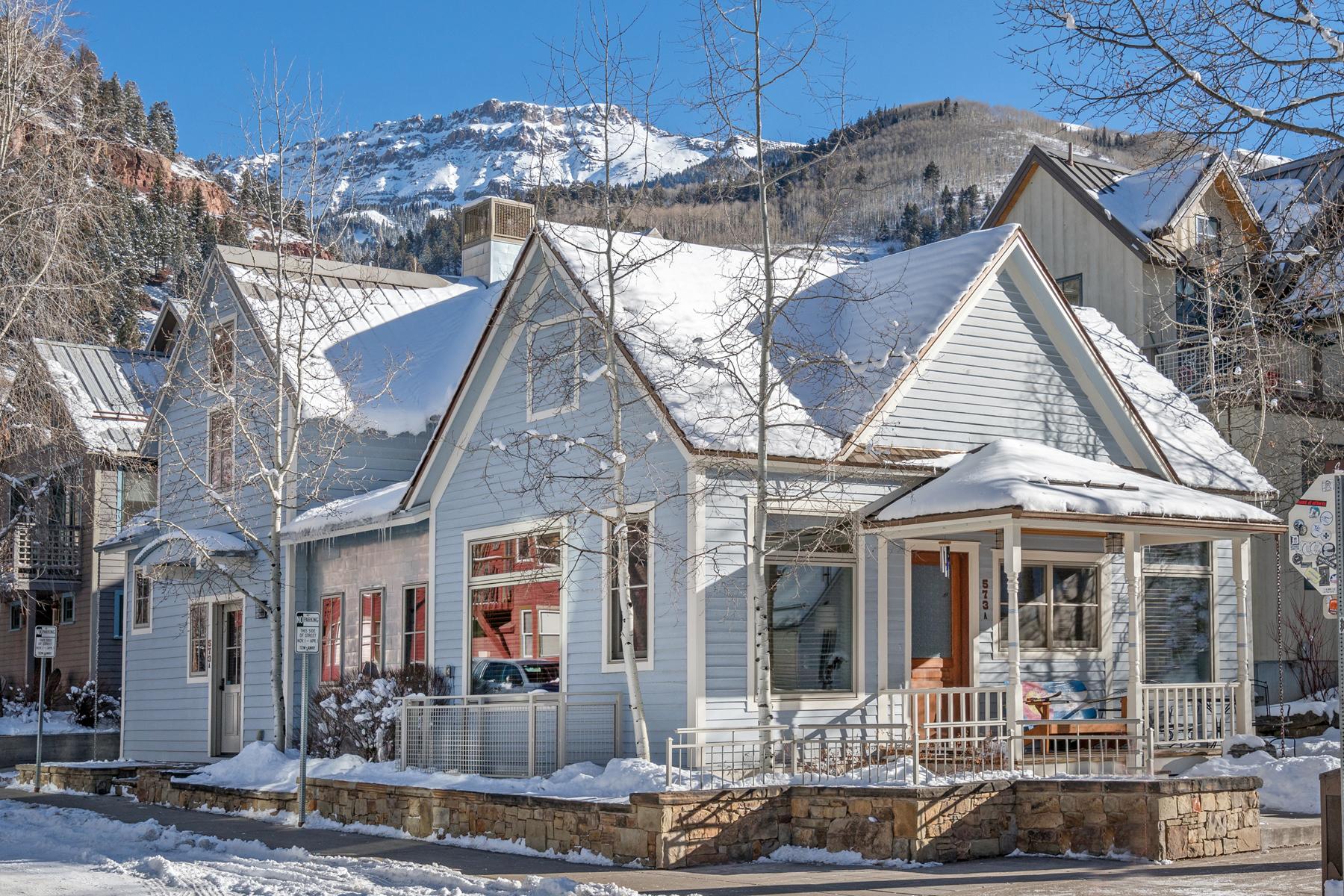 Частный односемейный дом для того Продажа на 573 W. Pacific Avenue Telluride, Колорадо, 81435 Соединенные Штаты