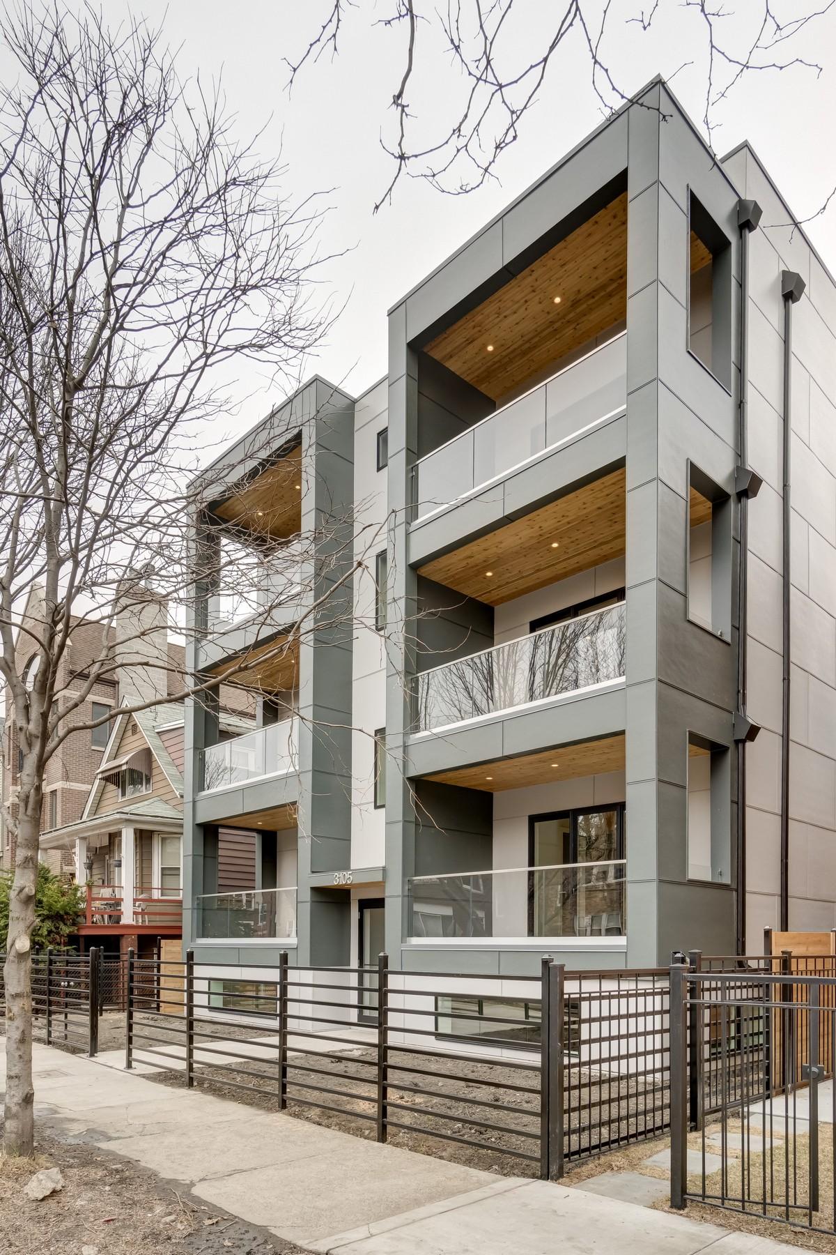 Copropriété pour l Vente à Roscoe Village Contemporary New Construction 3105 N Damen Avenue Unit 2S North Center, Chicago, Illinois, 60618 États-Unis