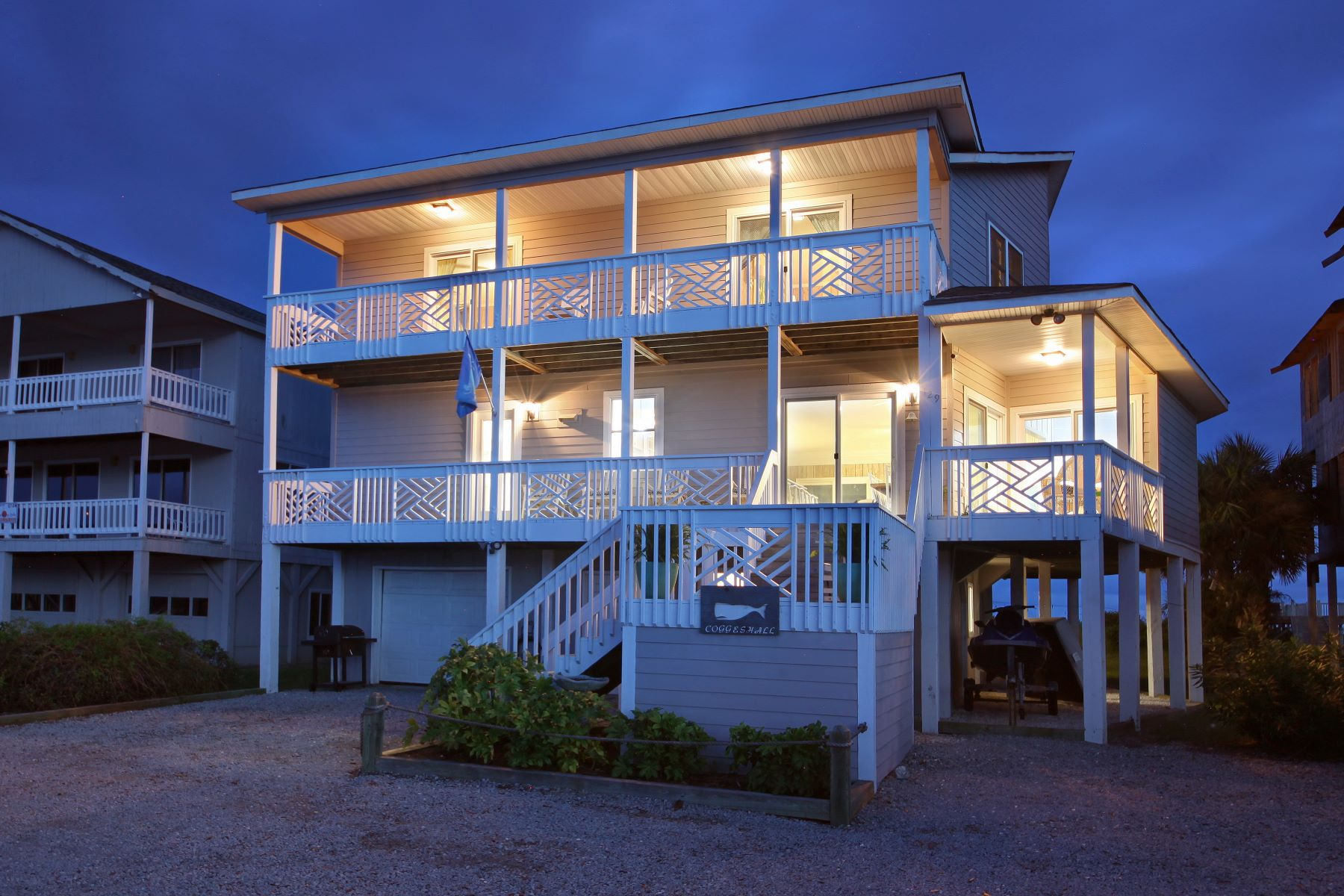 Single Family Homes for Active at Custom Designed One Owner Oceanfront Residence 129 Ocean Isle West Boulevard Ocean Isle Beach, North Carolina 28469 United States