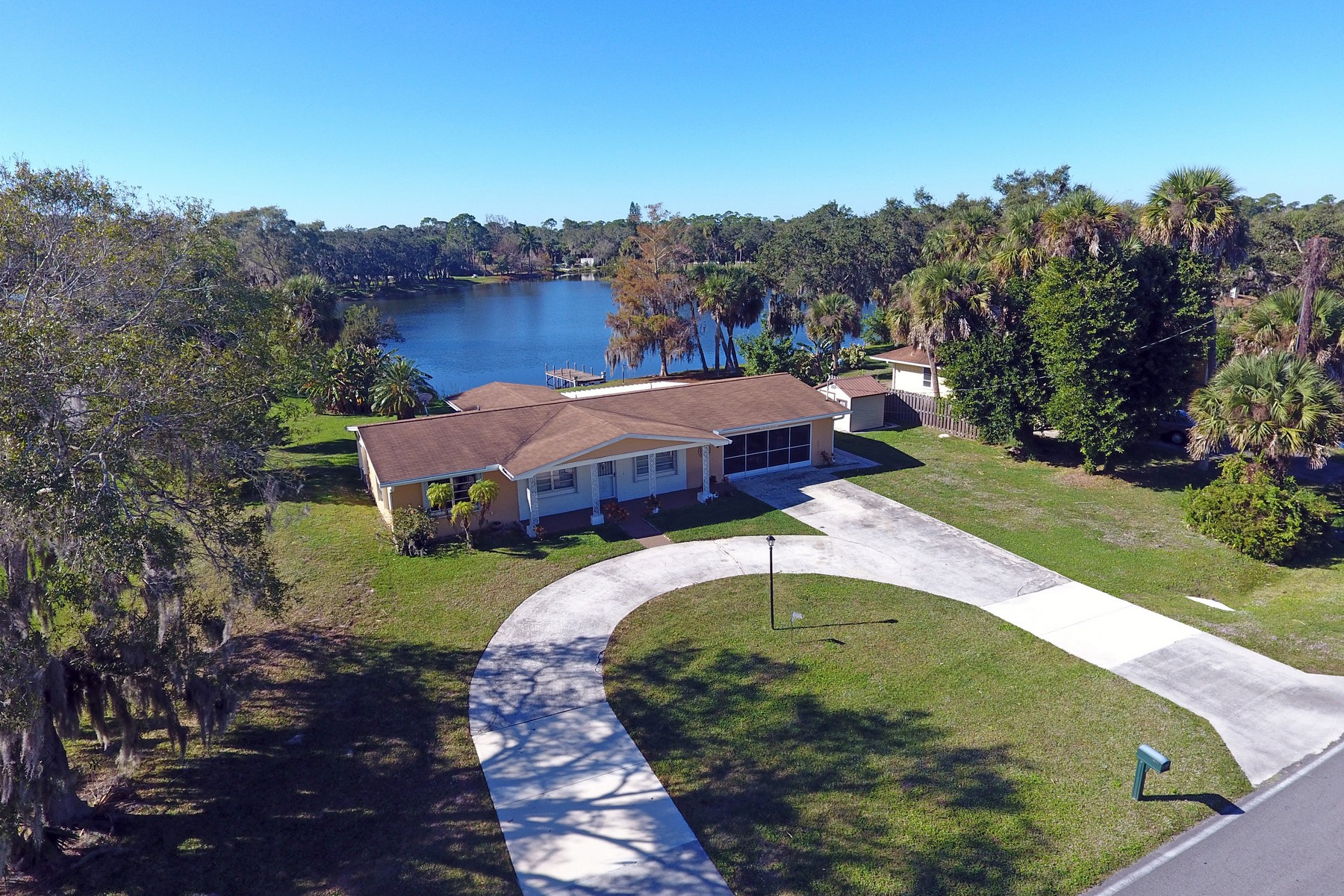 Single Family Home for Sale at Move in Ready Lakefront Dream 6607 Fort Pierce Blvd Fort Pierce, Florida 34951 United States