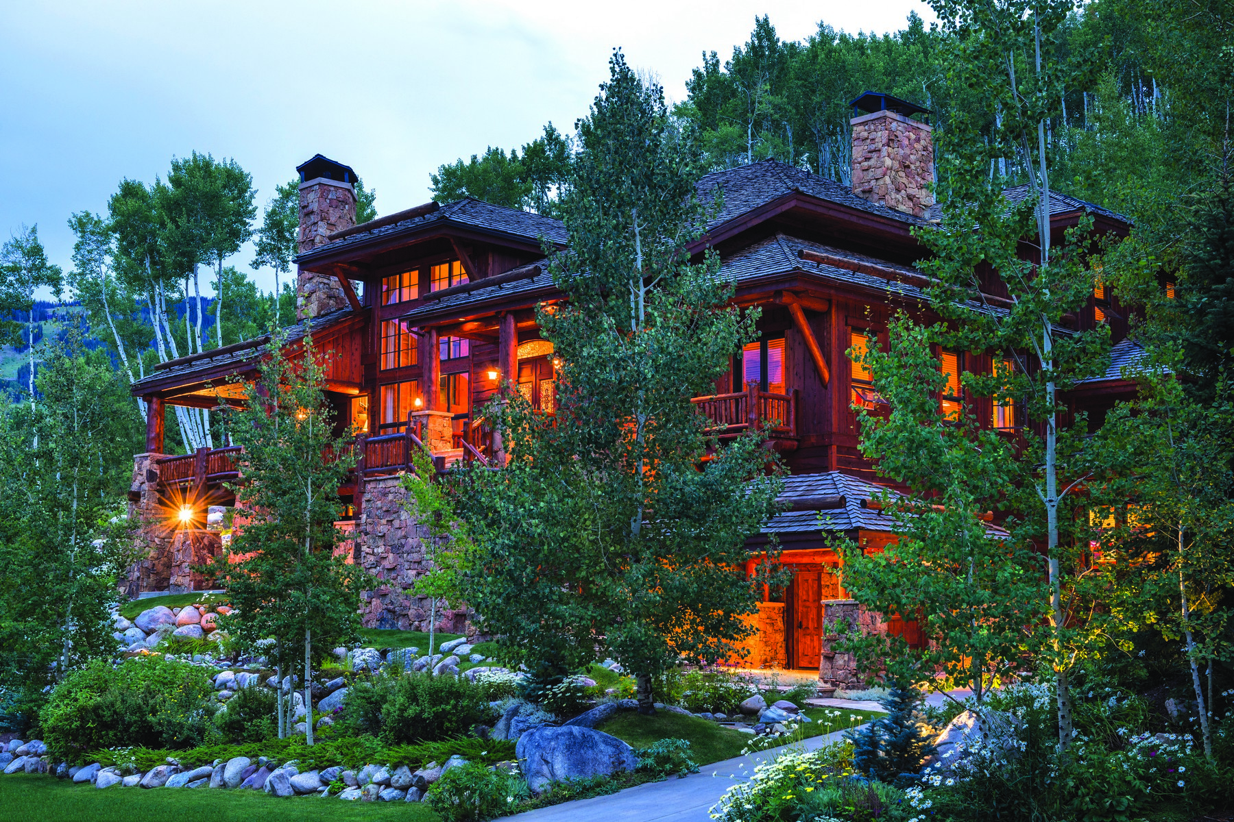 Single Family Home for Sale at Beaver Creek's Most Stunning Log Home 201 Borders Rd Avon, Colorado, 81620 United States
