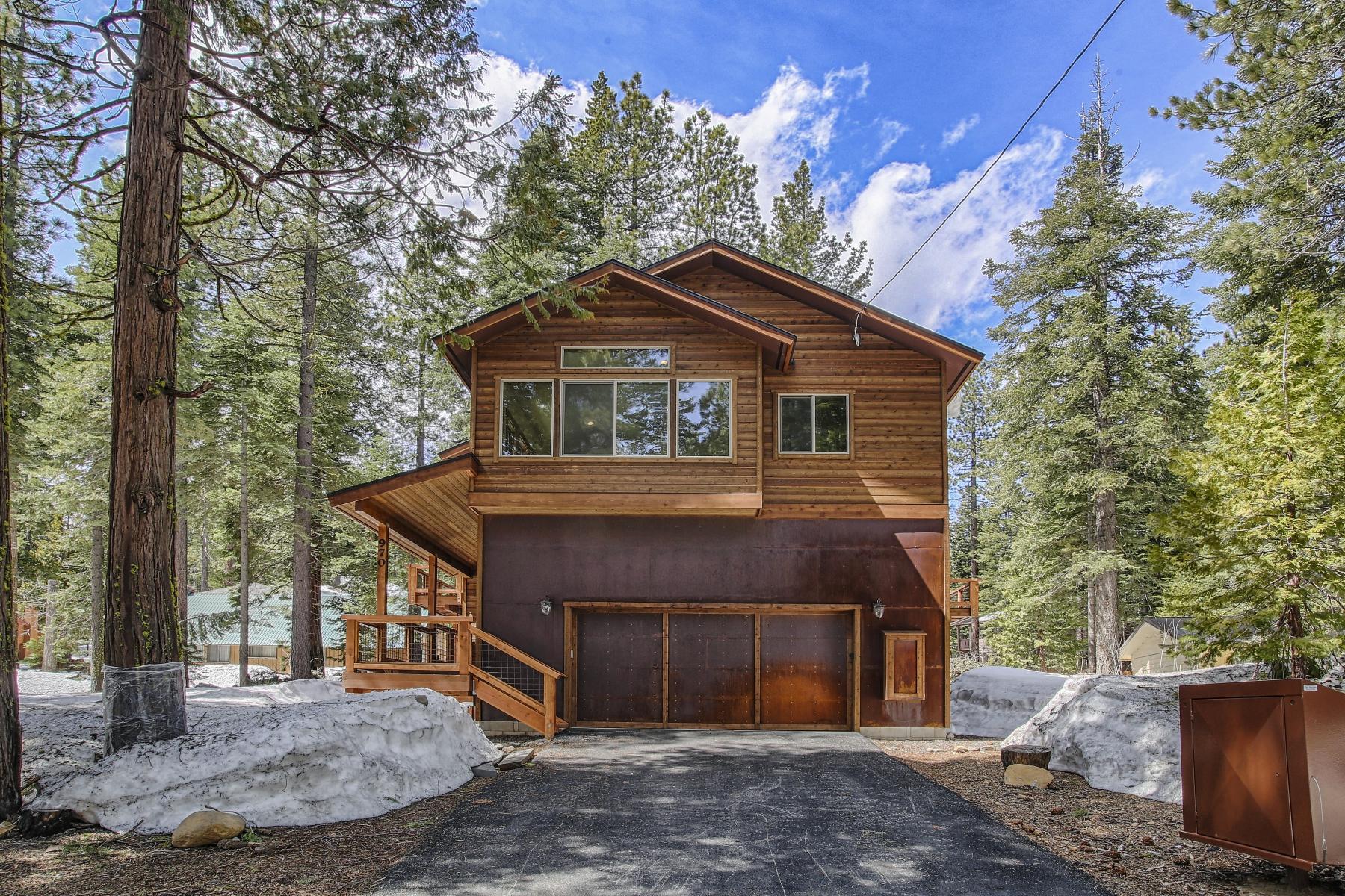 Частный односемейный дом для того Продажа на 970 The Drive Tahoe City, Калифорния 96145 Соединенные Штаты