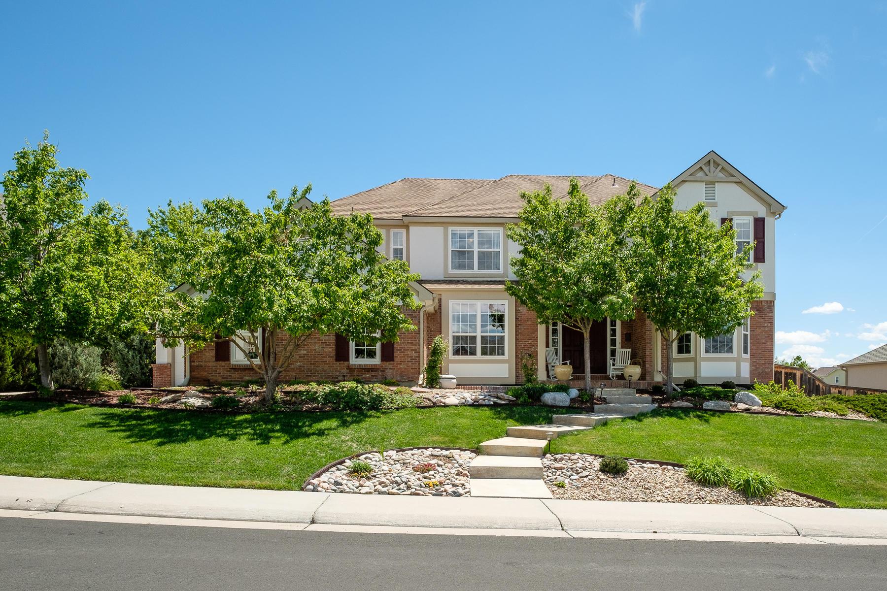 Single Family Home for Sale at A unique cul-de-sac lot 10329 Brookhollow Cir Highlands Ranch, Colorado, 80129 United States