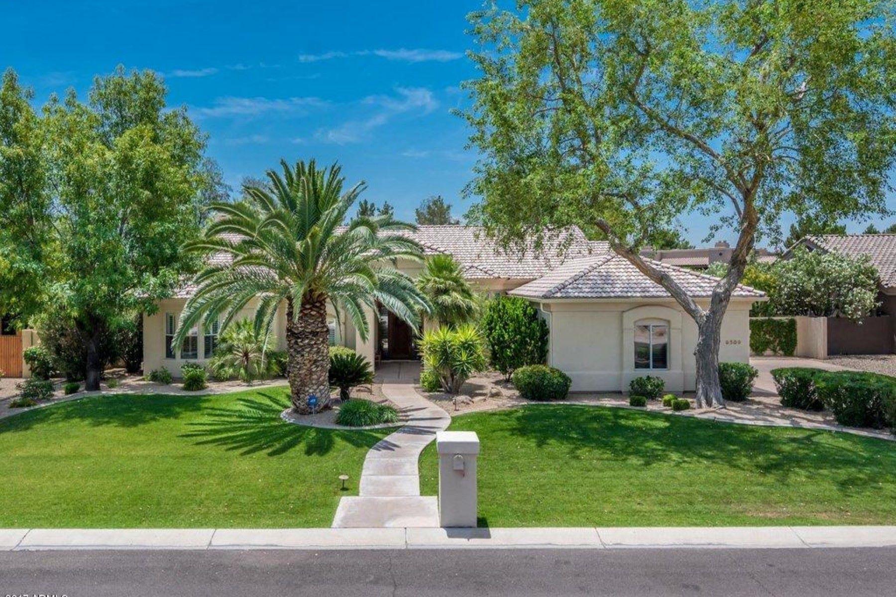 Частный односемейный дом для того Продажа на Stunning custom home in the upscale San Serena Estates 9509 E Desert Cove Avenue Scottsdale, Аризона, 85260 Соединенные Штаты