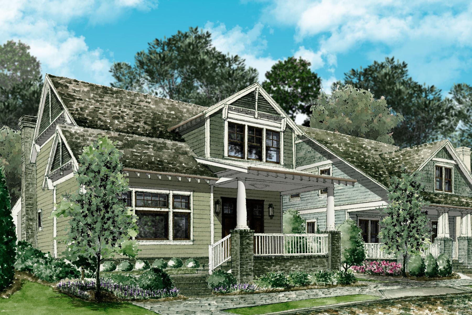 Single Family Homes для того Продажа на Inman Park New Construction Community 208 Haralson Lane NE, Atlanta, Джорджия 30307 Соединенные Штаты
