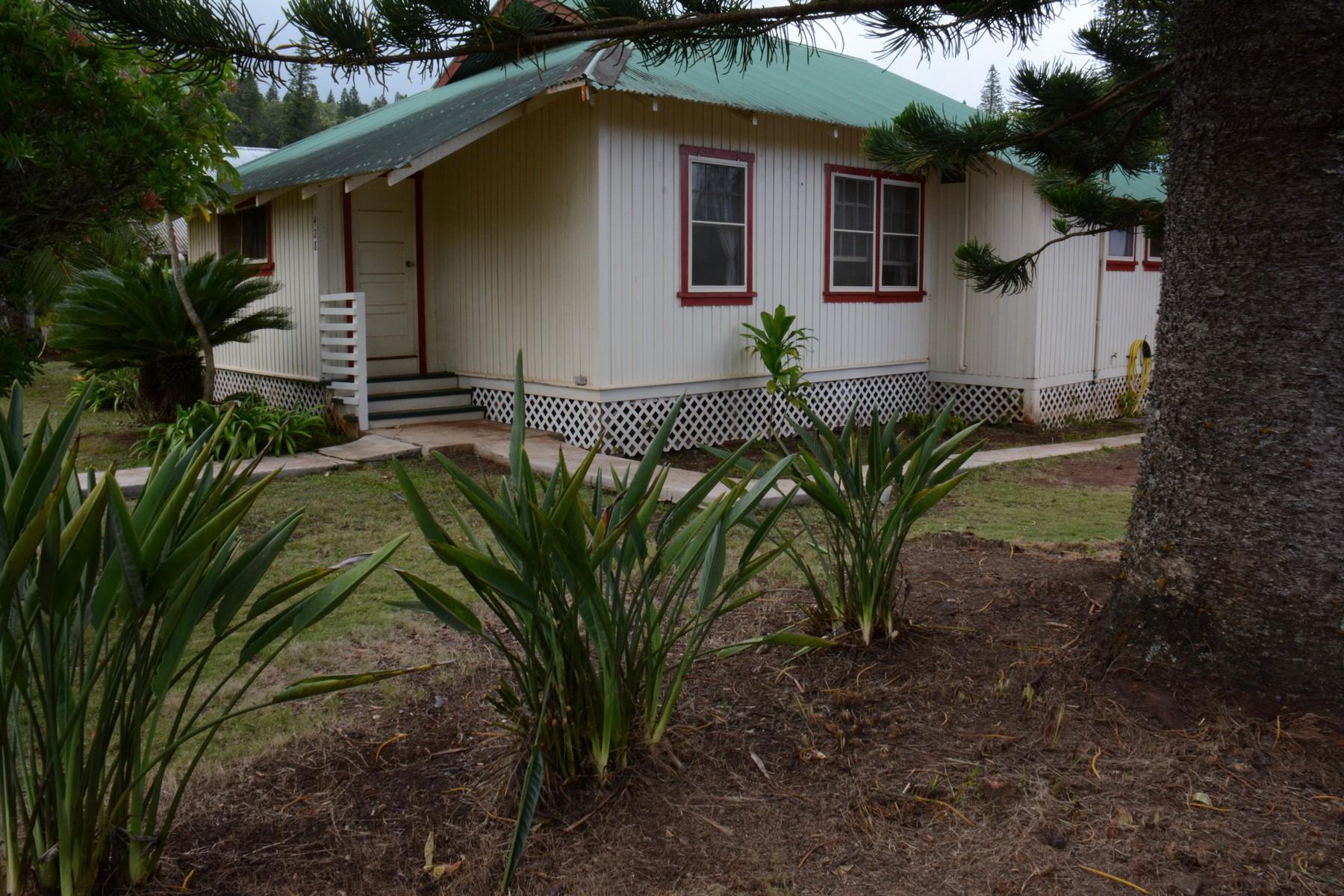 独户住宅 为 销售 在 Lanai Plantation Home Get-A-Way 428 Fifth Street Lanai City, 夏威夷 96763 美国