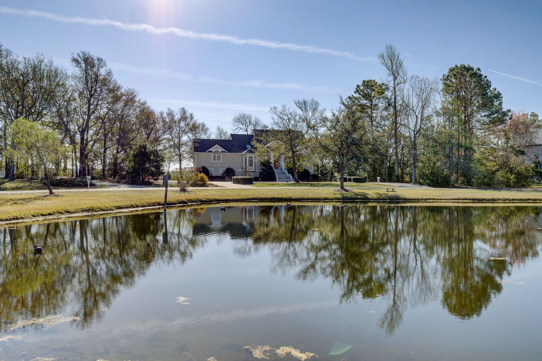 Single Family Home for Active at Beautiful Deep Waterfront Home in Private Community 62 Myrtle Point Circle Supply, North Carolina 28462 United States