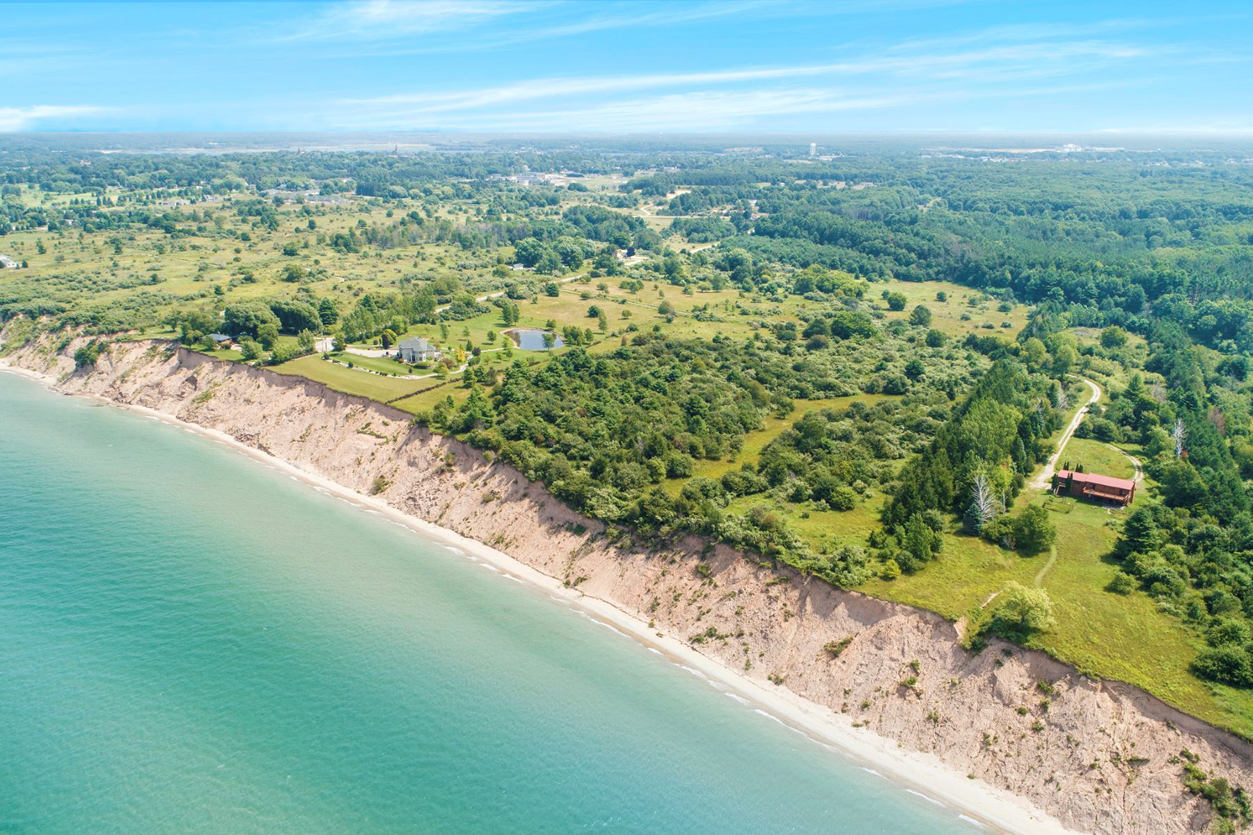 Land for Sale at Majestic Lake Michigan Property 1 & 2 Merkey Road Manistee, Michigan 49660 United States