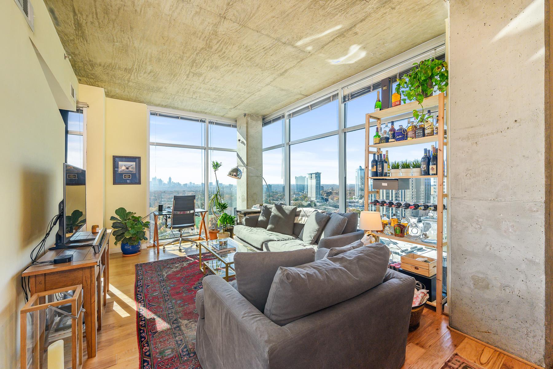Condominiums için Satış at Incredible Views in Prime Buckhead Location 250 Pharr Road NE No. 1517, Atlanta, Georgia 30305 Amerika Birleşik Devletleri
