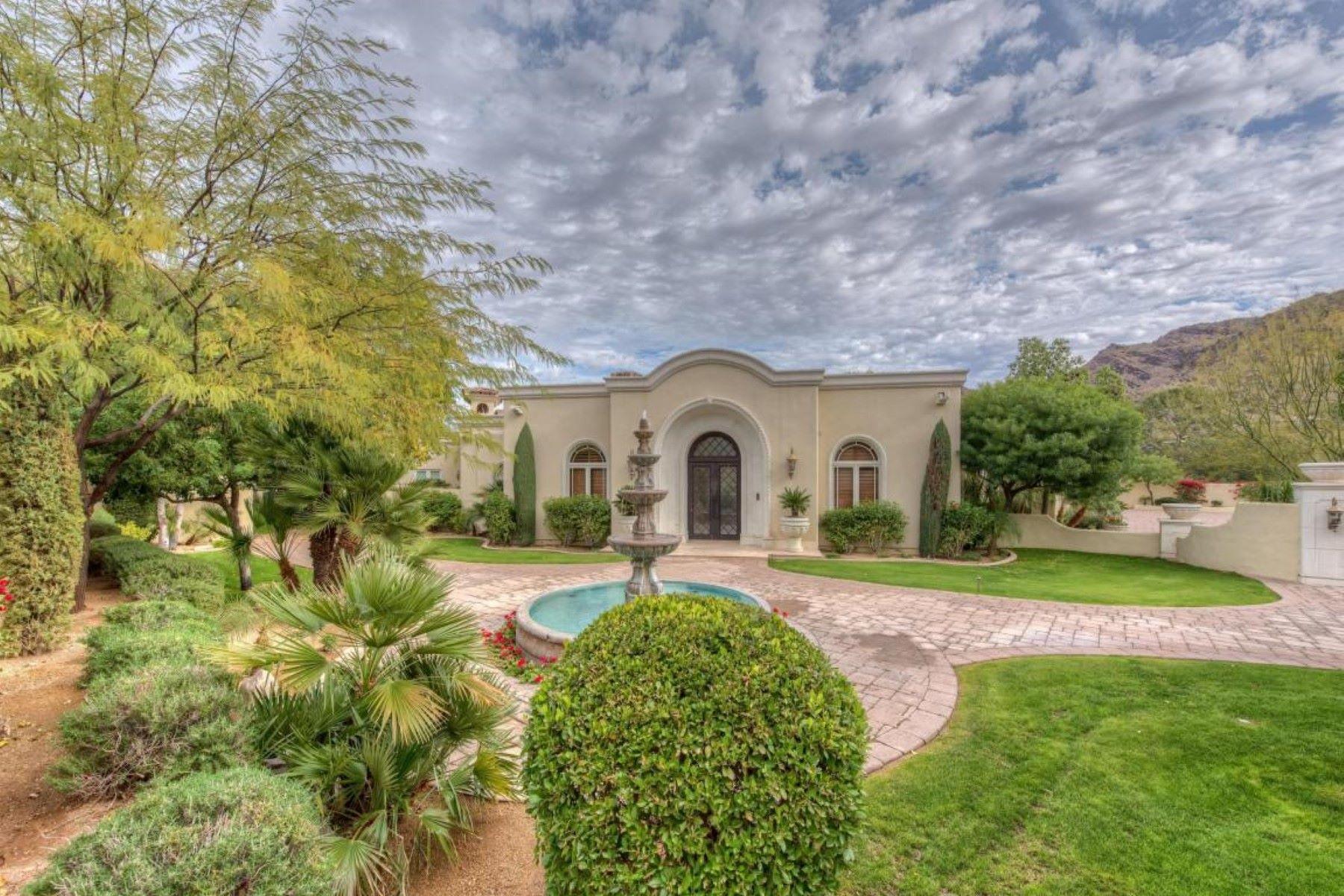 独户住宅 为 销售 在 gorgeous Mediterranean estate 4900 E DESERT FAIRWAYS DRIVE, 天堂谷, 亚利桑那州, 85253 美国
