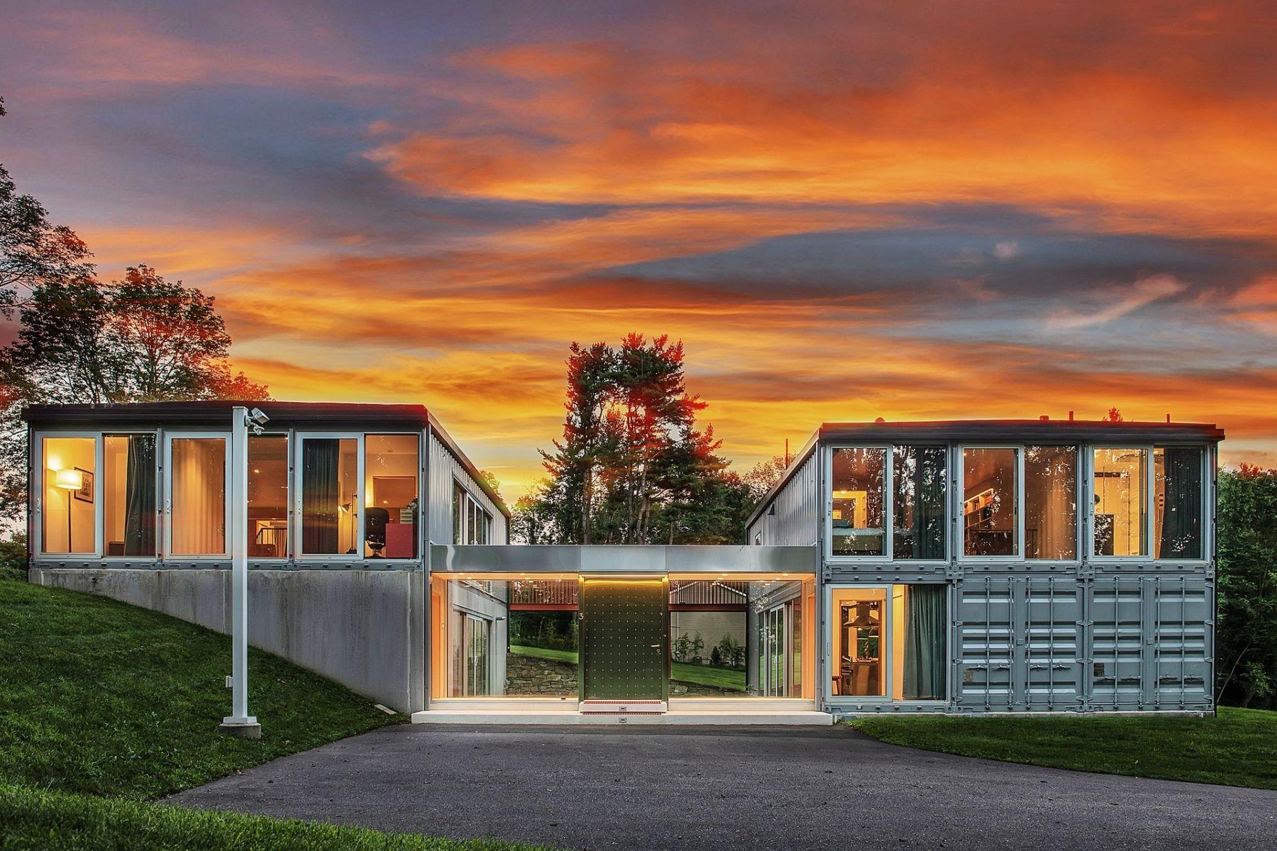 Enfamiljshus för Försäljning vid Modern Tranquility 3 Linfield Lane, Califon, New Jersey 07830 Usa