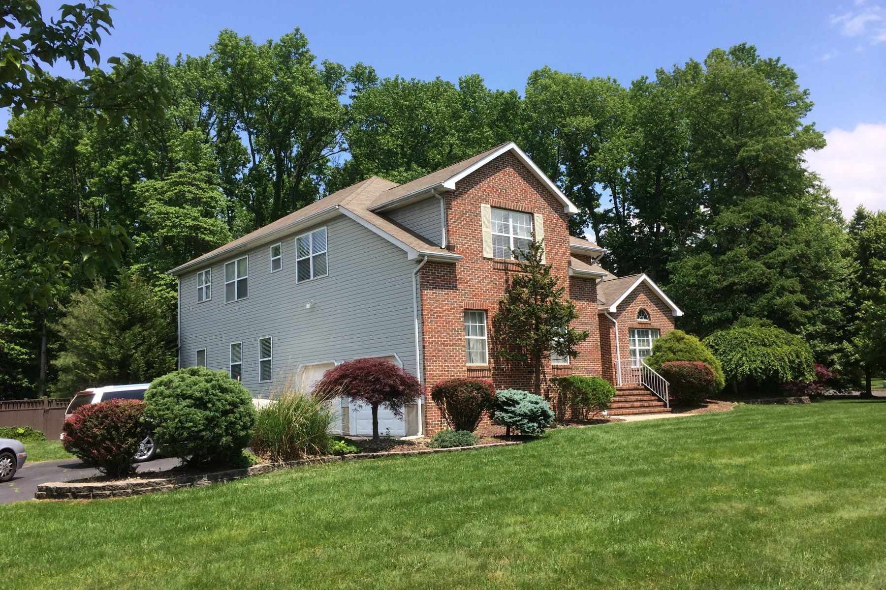 Single Family Homes for Rent at Striking Brick Front Colonial 23 Arnold Lane, Robbinsville, New Jersey 08691 United States