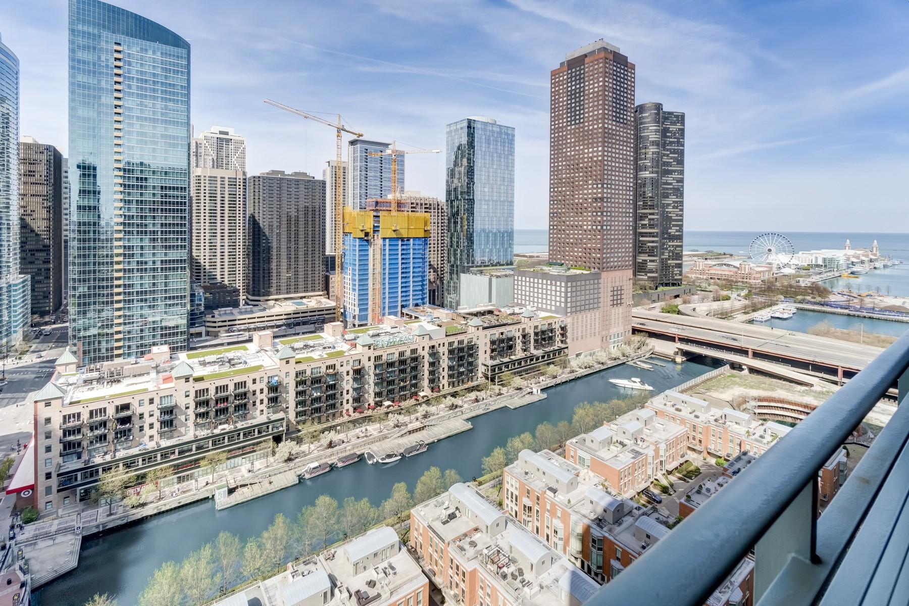 Copropriété pour l Vente à Stunning RiverView Condo 415 E North Water Street Unit 2206, Chicago, Illinois, 60611 États-Unis