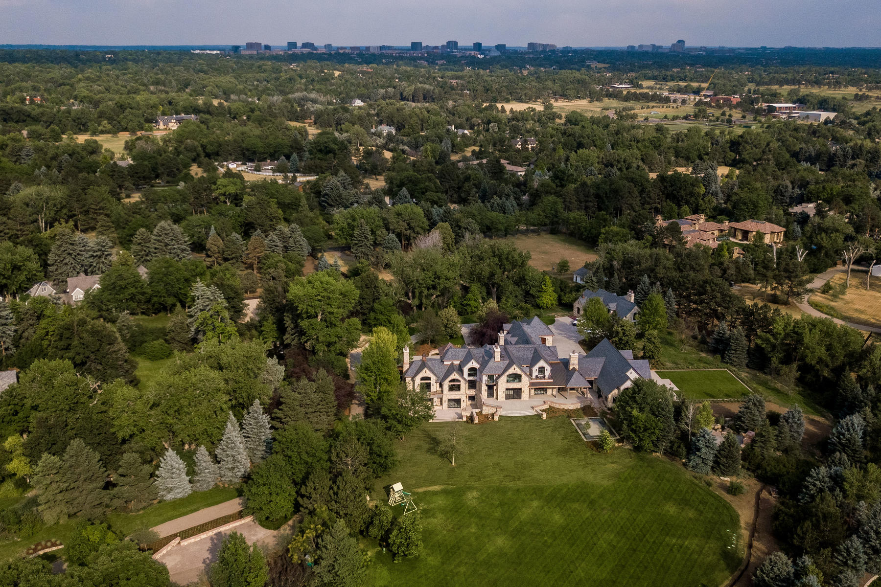 Additional photo for property listing at A breathtaking Colorado Masterpiece on 5 acres of lushly landscaped grounds! 10 Cherry Hills Park Dr Cherry Hills Village, Colorado 80113 United States