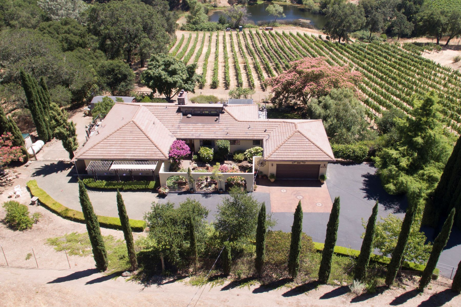 Single Family Home for Sale at A Serene Retreat with Valley Views 4084 Atlas Peak Road Napa, California, 94558 United States