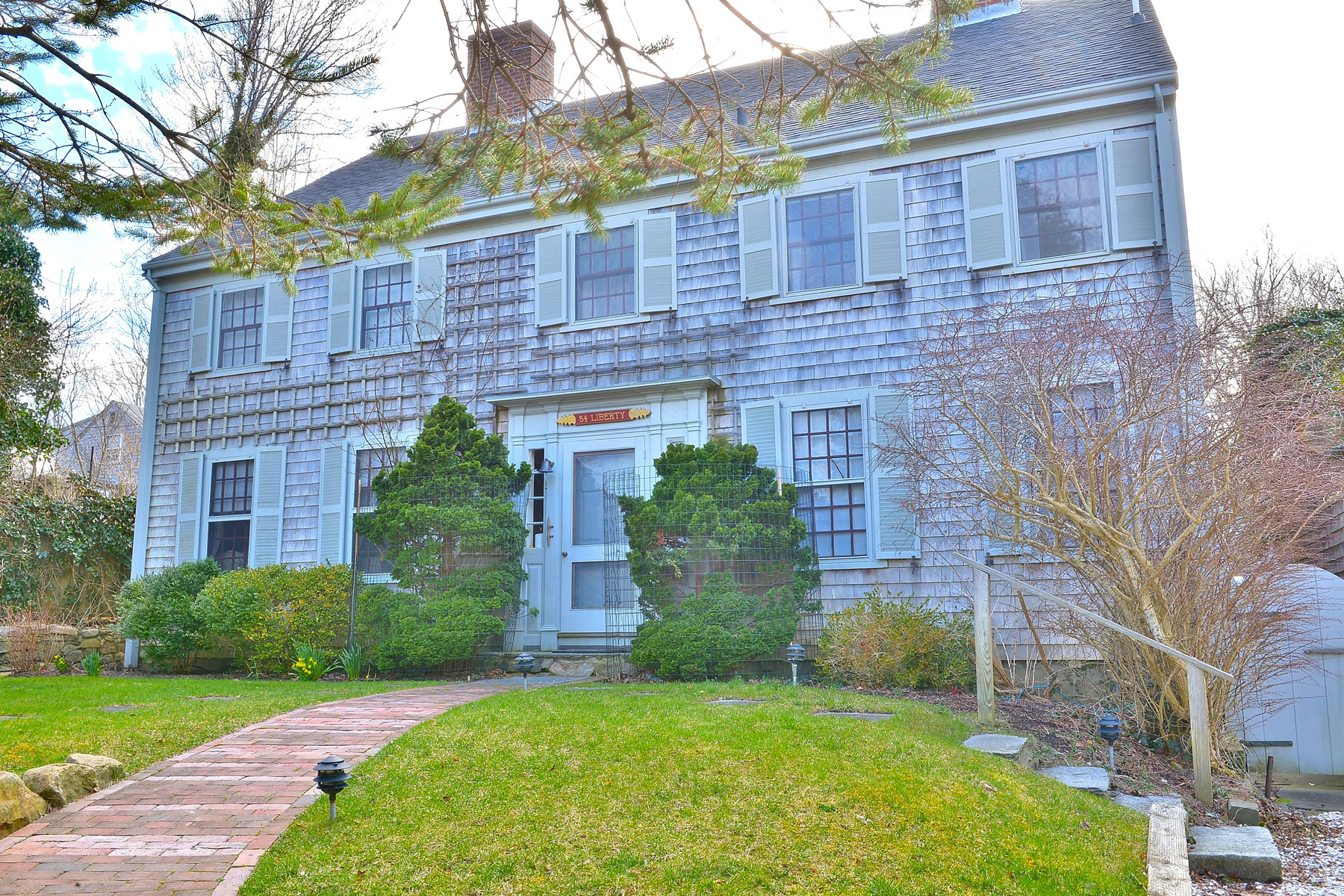 Single Family Home for Sale at A Magical Property in Historic Downtown Nantucket 34 Liberty Street Nantucket, Massachusetts, 02554 United States