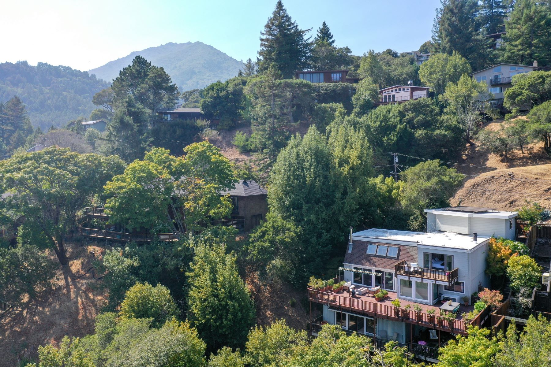 Single Family Homes 为 销售 在 Secluded Larkspur Sanctuary 115 Wilson Way Larkspur, 加利福尼亚州 94939 美国