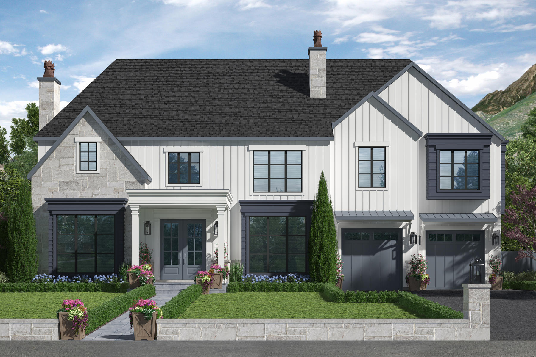 Single Family Homes for Sale at Sophisticated New Construction 4975 S Memory Ln Holladay, Utah 84117 United States