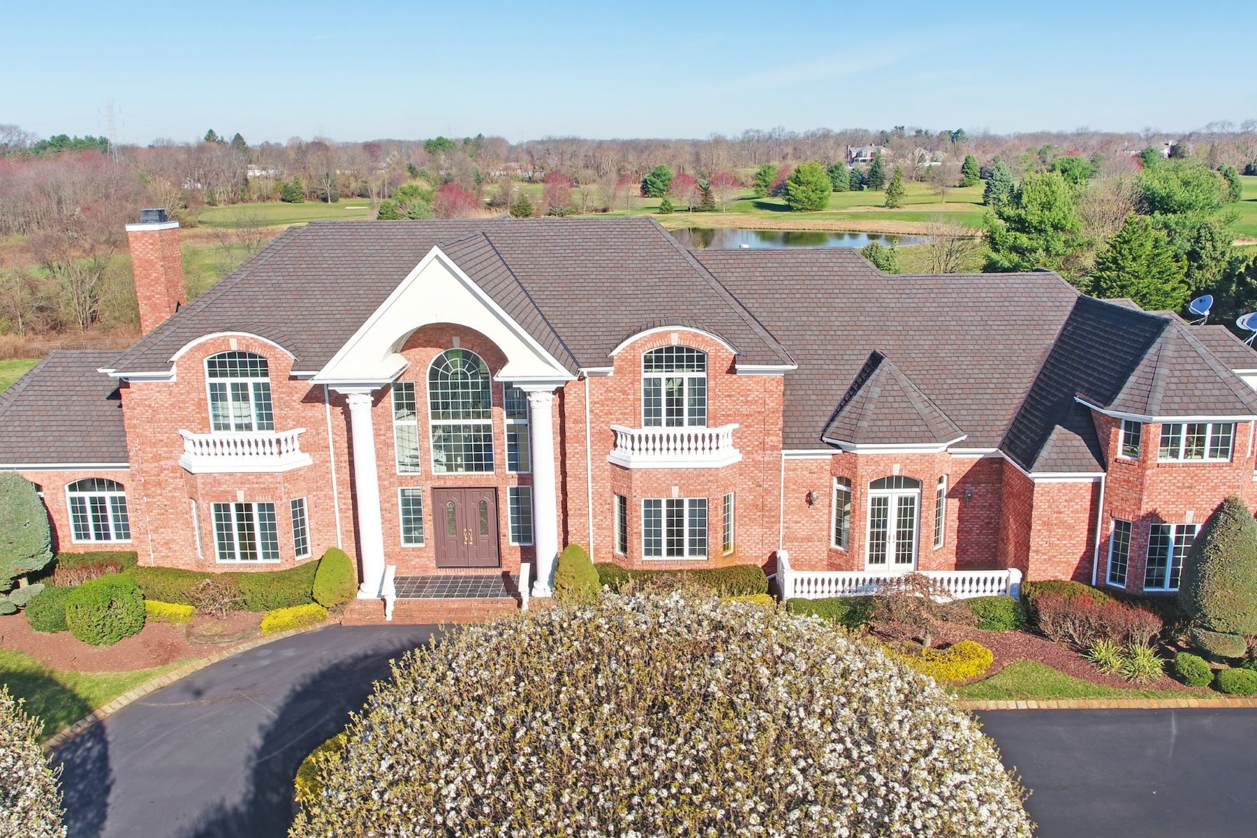 Single Family Homes for Sale at Spohisticated Elegance On Private Setting 20 Country Club Lane Colts Neck, New Jersey 07722 United States