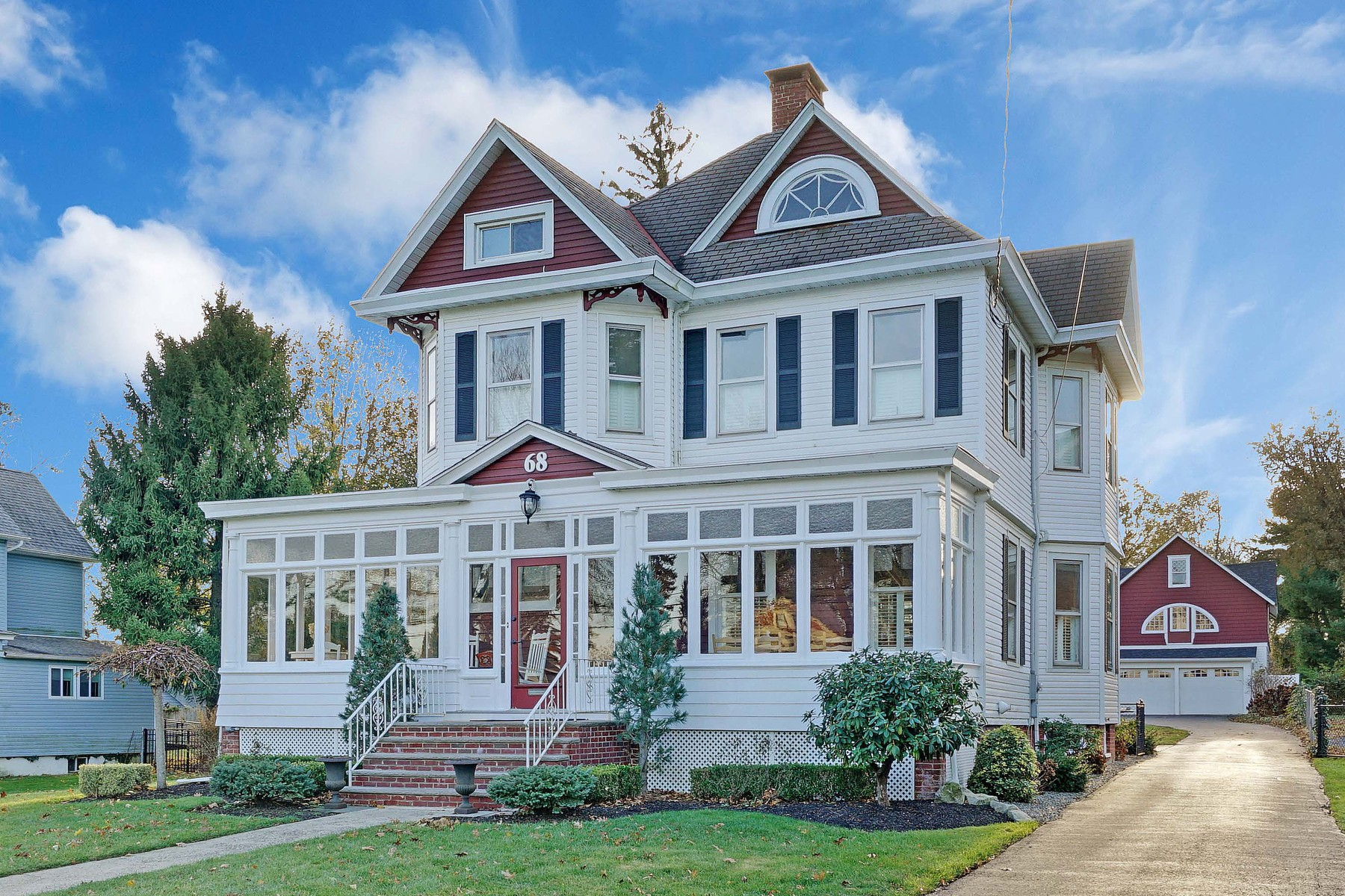 Single Family Home for Sale at Stately Victorian in Freehold 68 Court Street Freehold, New Jersey 07728 United States