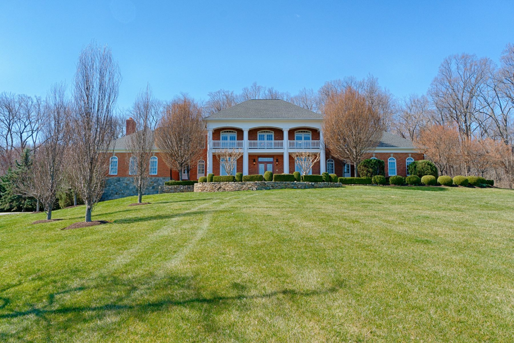 Single Family Home for Sale at Modern Brick Georgian 40573 Spectacular Bid Place Leesburg, Virginia, 20176 United States