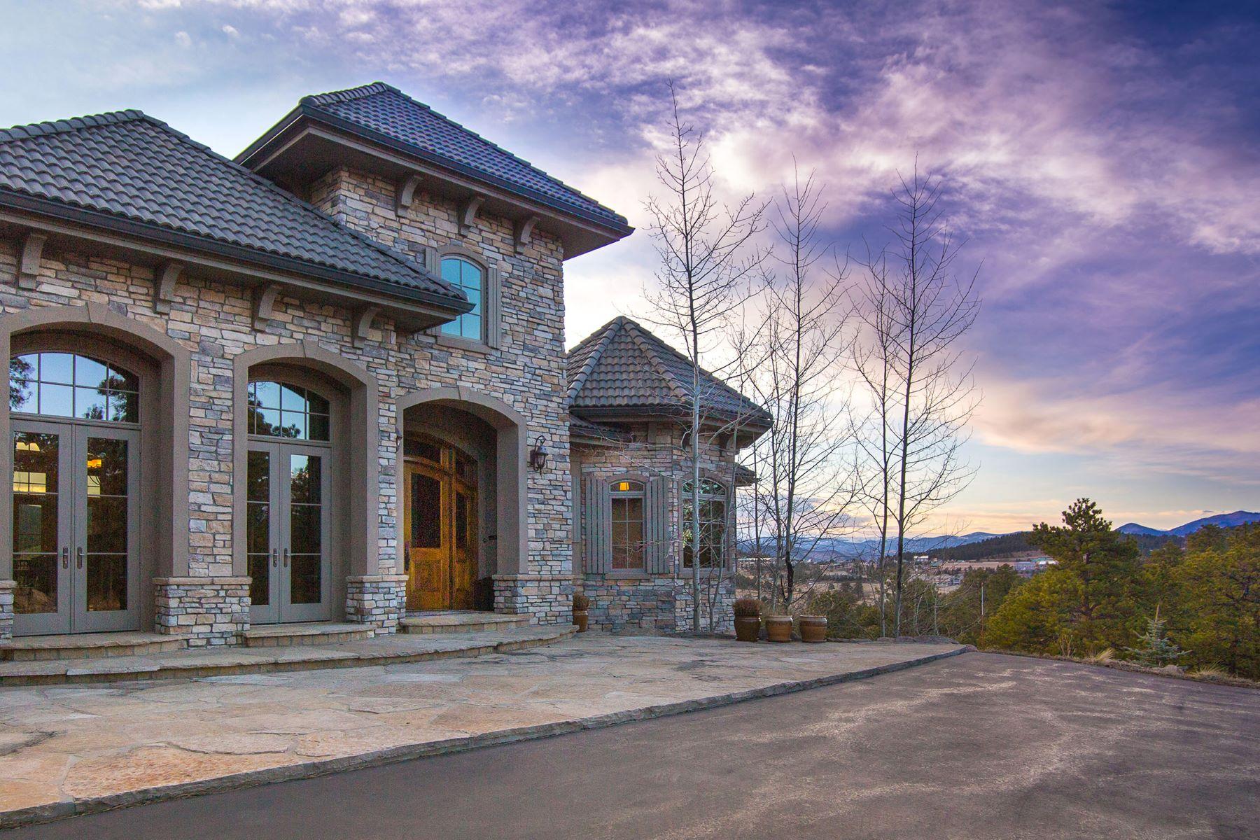 단독 가정 주택 용 매매 에 Custom Home With Incredible Views 1325 Silver Rock Lane Evergreen, 콜로라도, 80439 미국