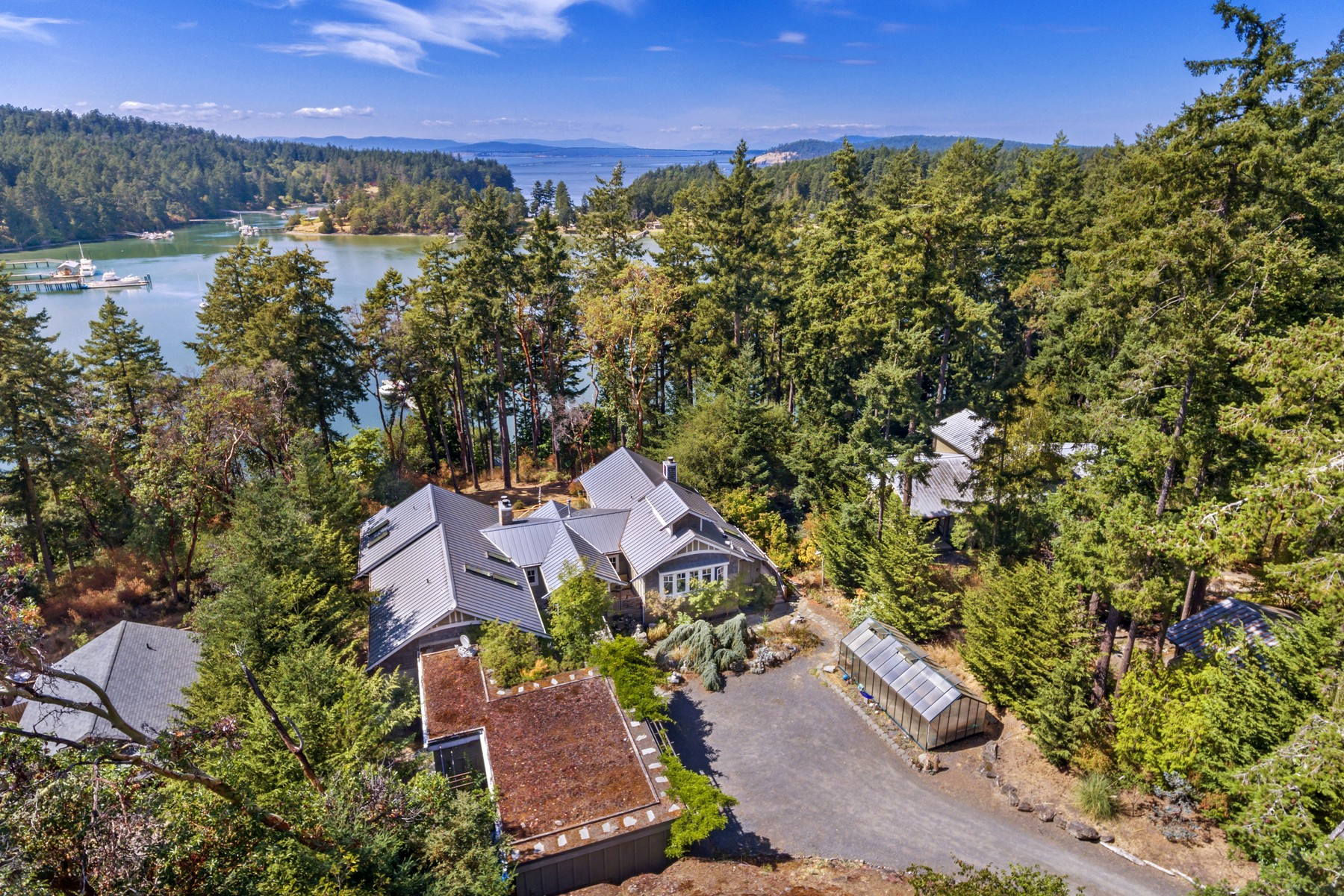 Single Family Home for Sale at Welcoming Home with Waterviews on San Juan Island Friday Harbor, Washington 98250 United States