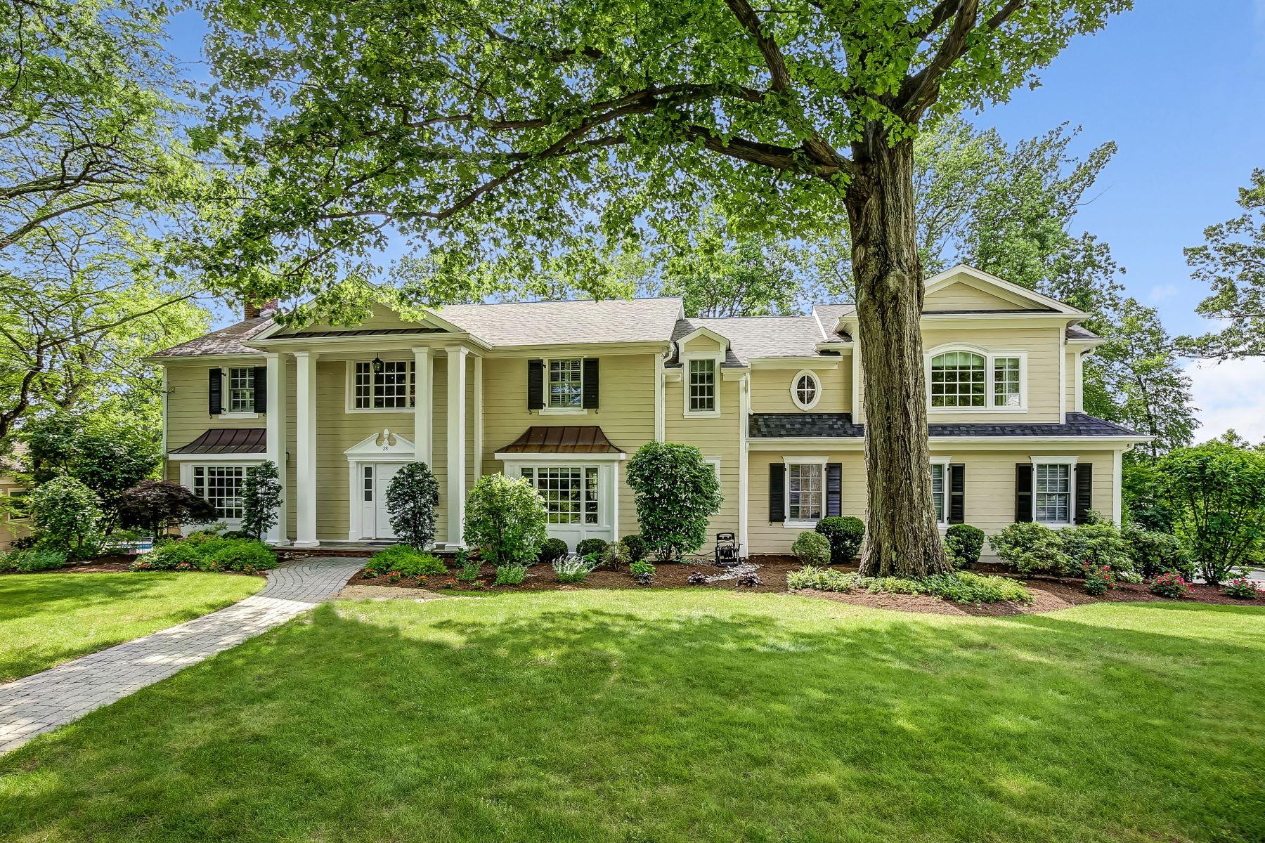 Eensgezinswoning voor Verkoop een t Impressive Classic Colonial 28 Farbrook Drive, Short Hills, New Jersey 07078 Verenigde Staten