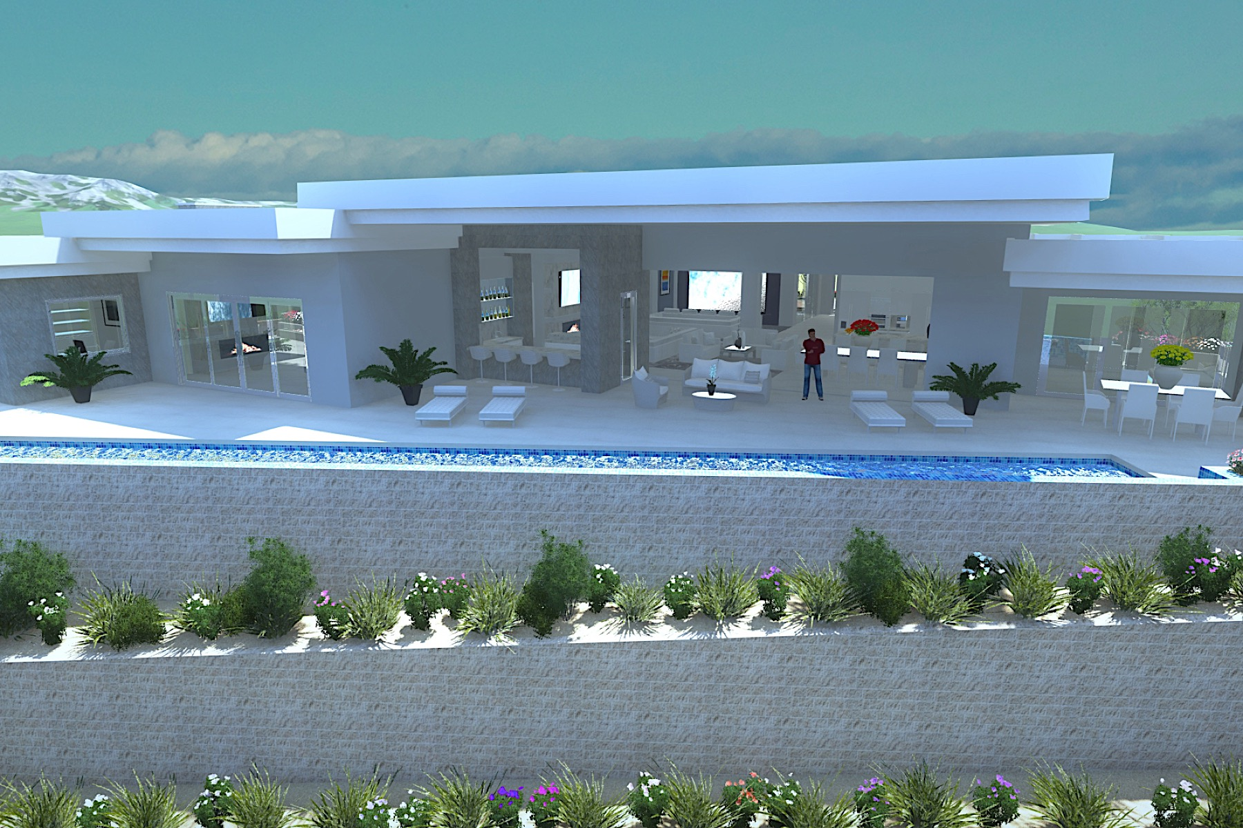 sales property at Antares   New Modern Single Story with 75' Lap Pool and Strip Views