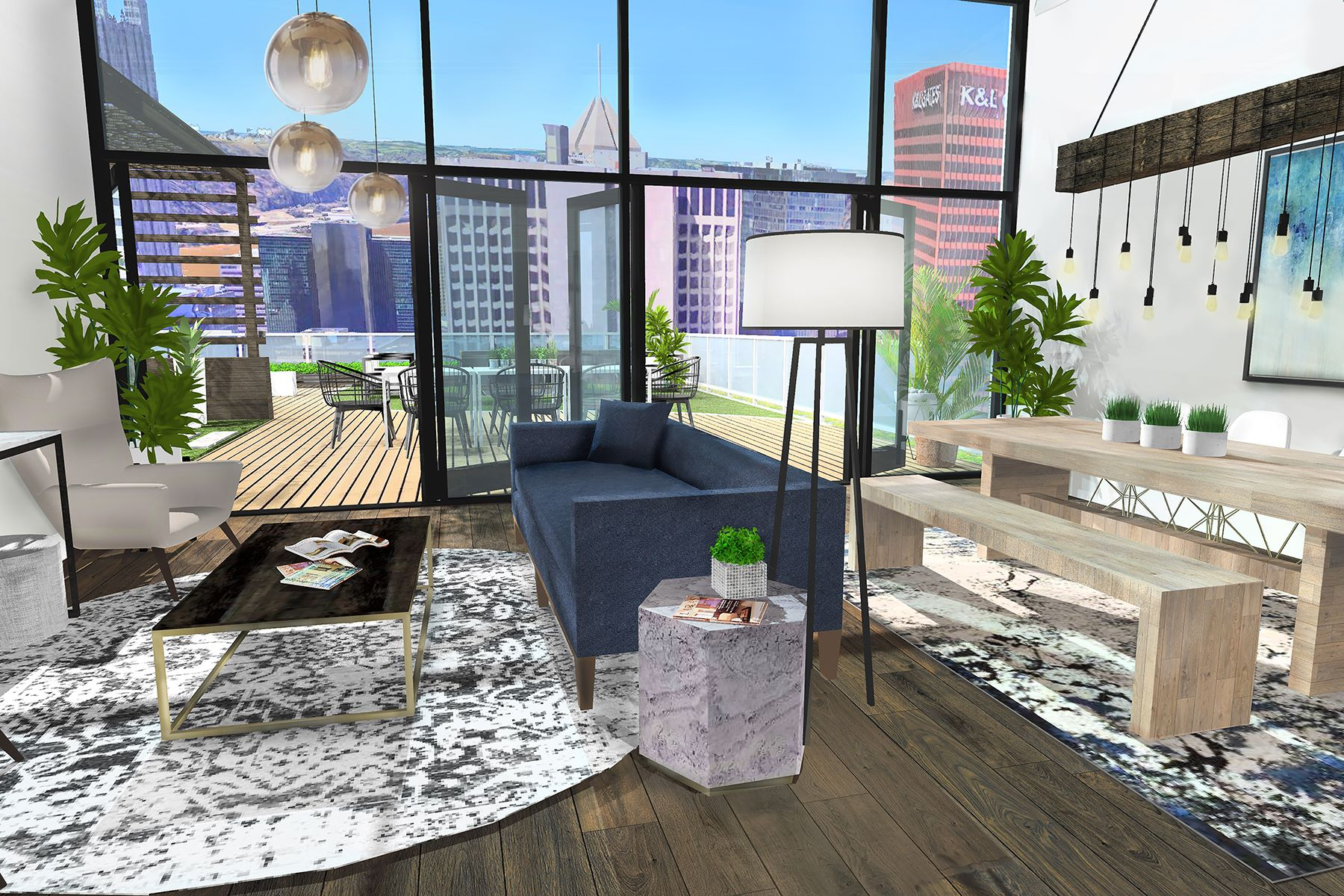 Additional photo for property listing at The Nebula Residence at Lumiére 350 Oliver Avenue #1306 Pittsburgh, Pennsylvania 15222 United States