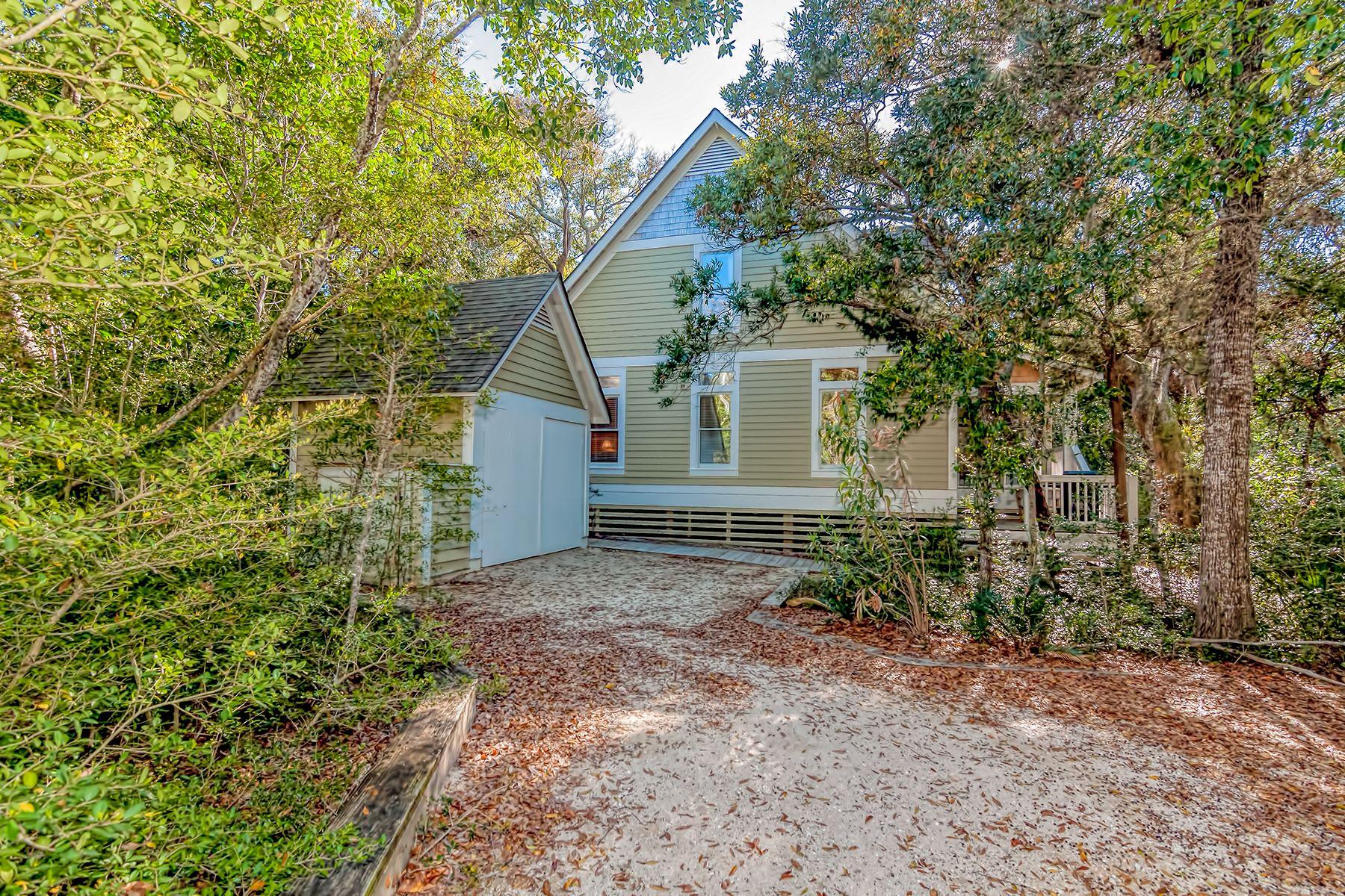 Single Family Home for Sale at Beach Cottage among the Island's Magical Live Oaks 11 Sandwich Tern Trail Bald Head Island, North Carolina, 28461 United States