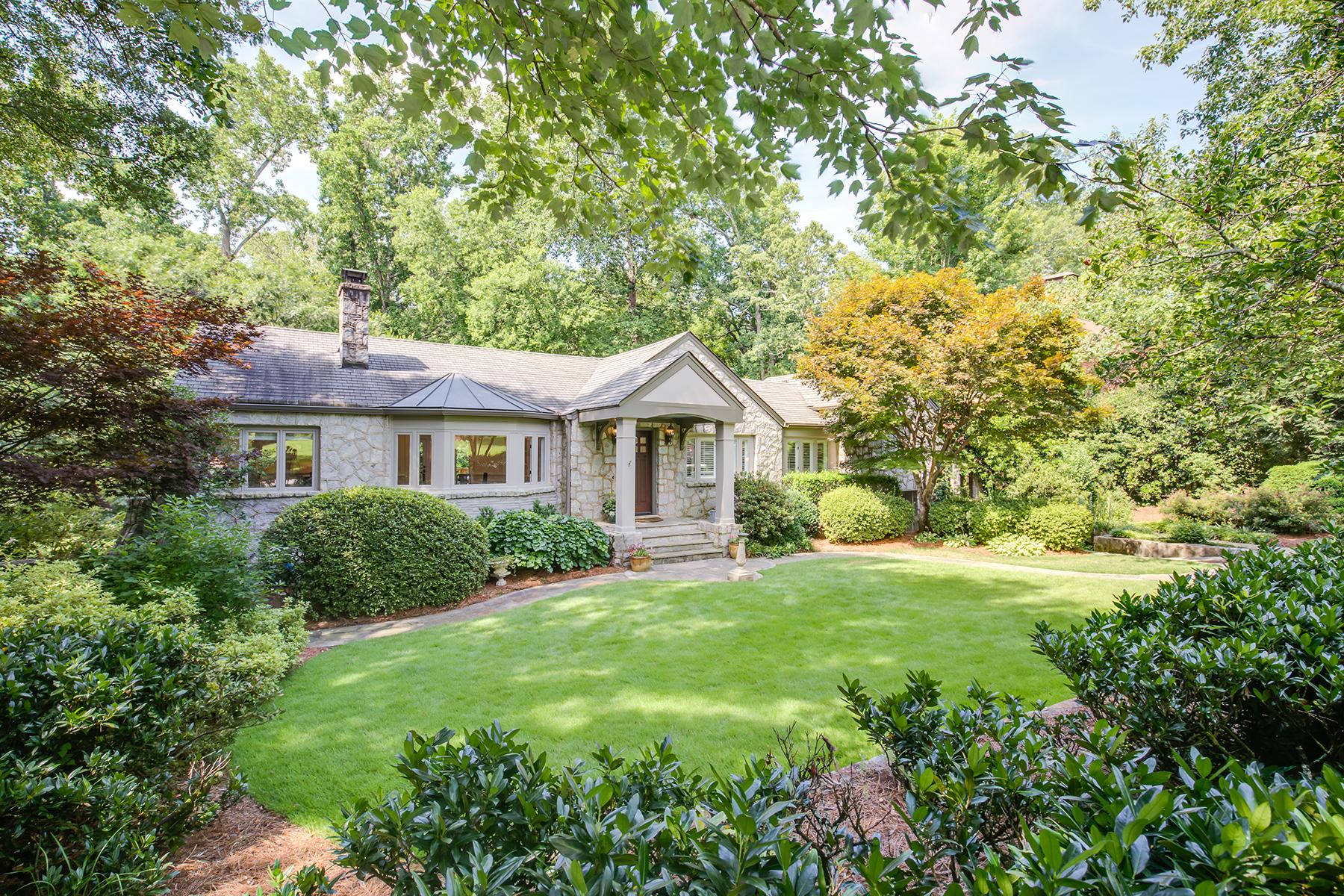 Single Family Home for Sale at Your Private Oasis in Prestigious Druid Hills 1453 Fairview Road NE Atlanta, Georgia 30306 United States