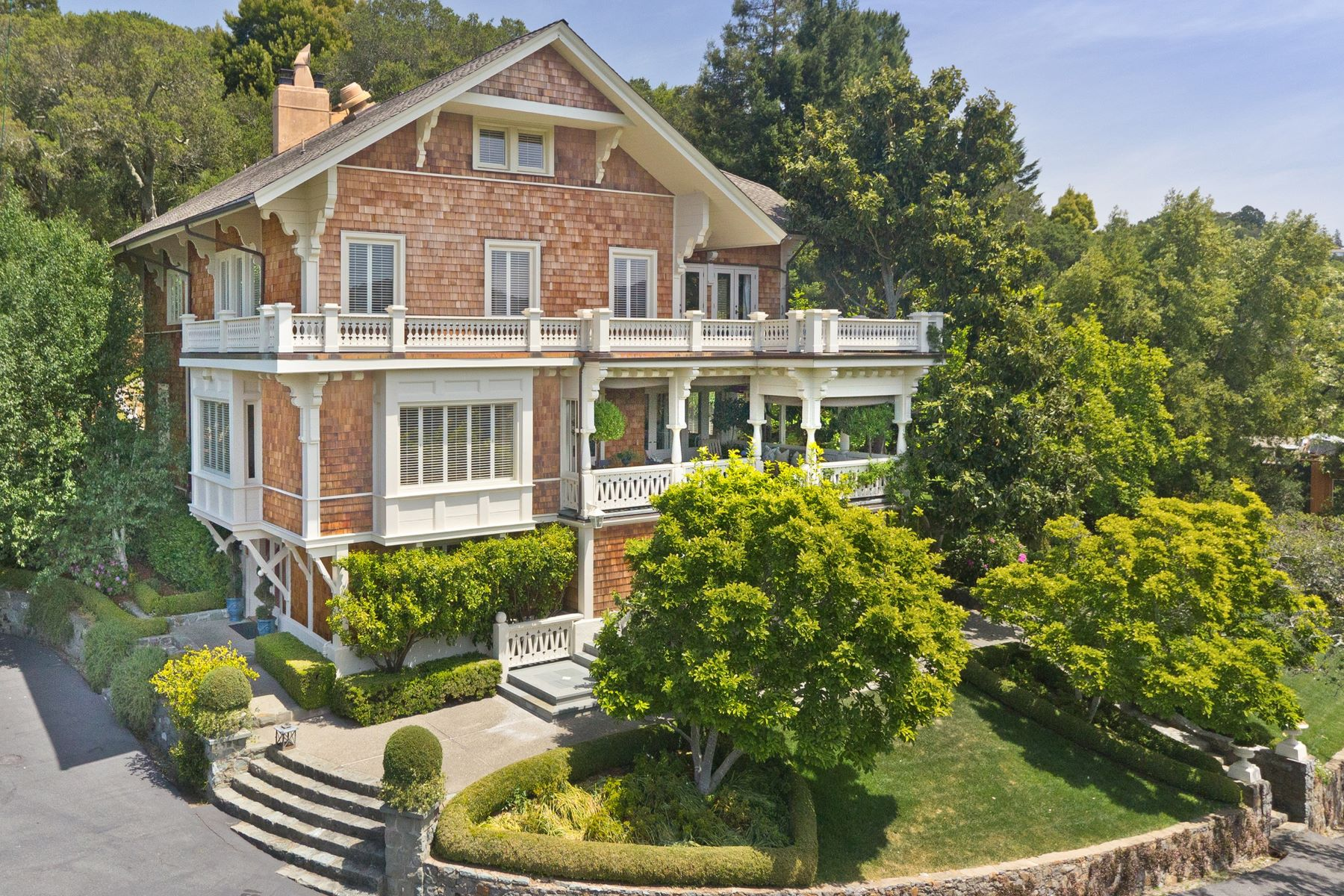 Single Family Homes for Sale at Iconic Ross Estate 117 Laurel Grove Ross, California 94957 United States