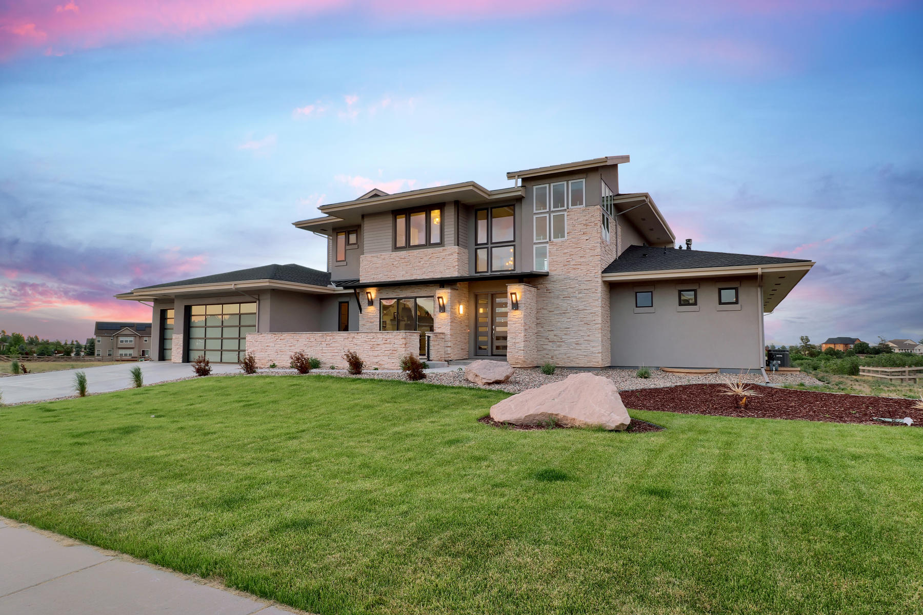 Single Family Home for Active at This custom modern design home brings nature to the interior. 2426 Eastview Dt Castle Rock, Colorado 80104 United States