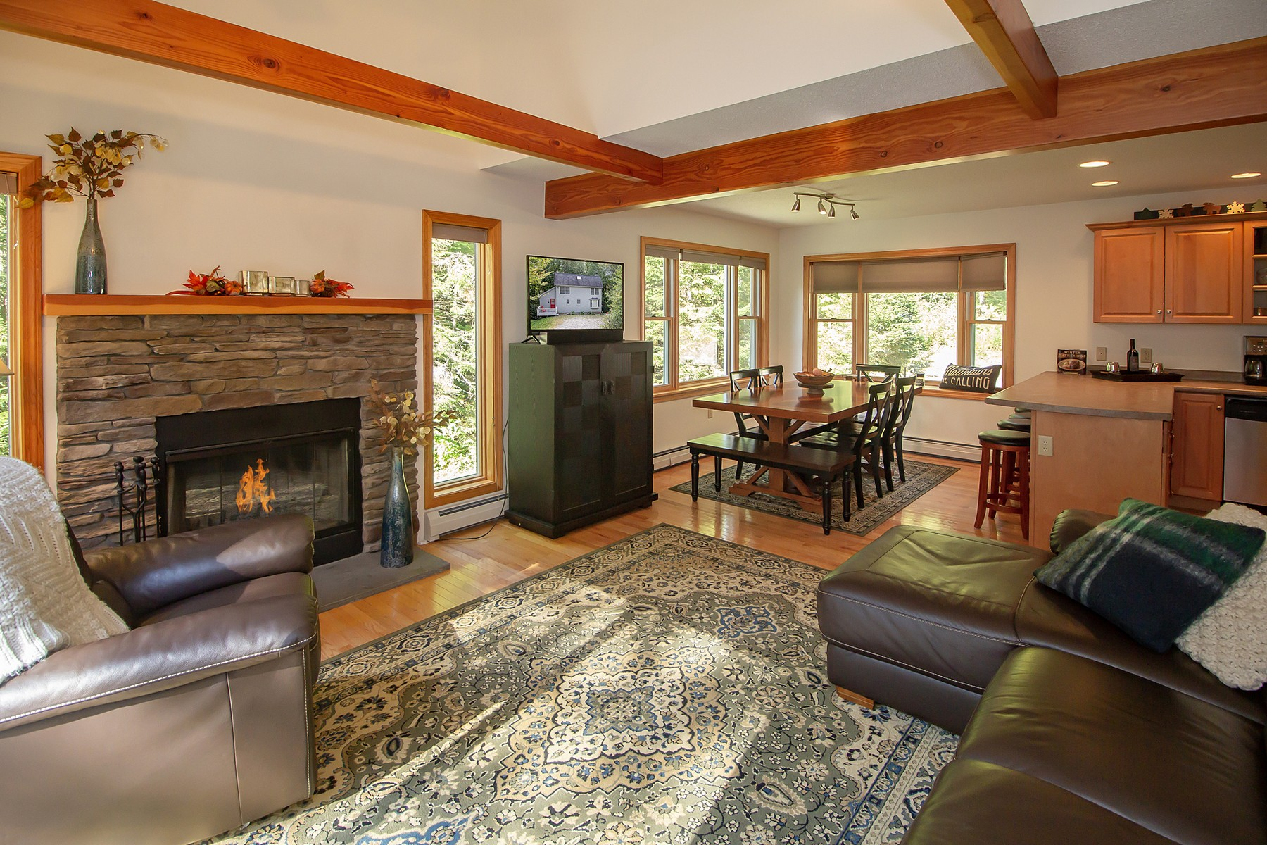 Single Family Homes for Sale at Beautiful Chimney Hill Home 44 Rabbit Run Wilmington, Vermont 05363 United States