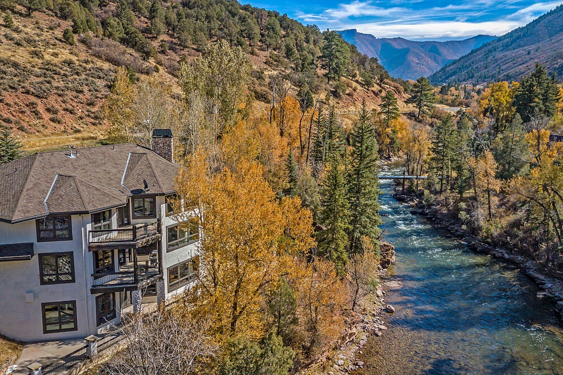 Single Family Homes for Sale at Renovated Riverfront Estate 50 N. River Road Snowmass, Colorado 81654 United States