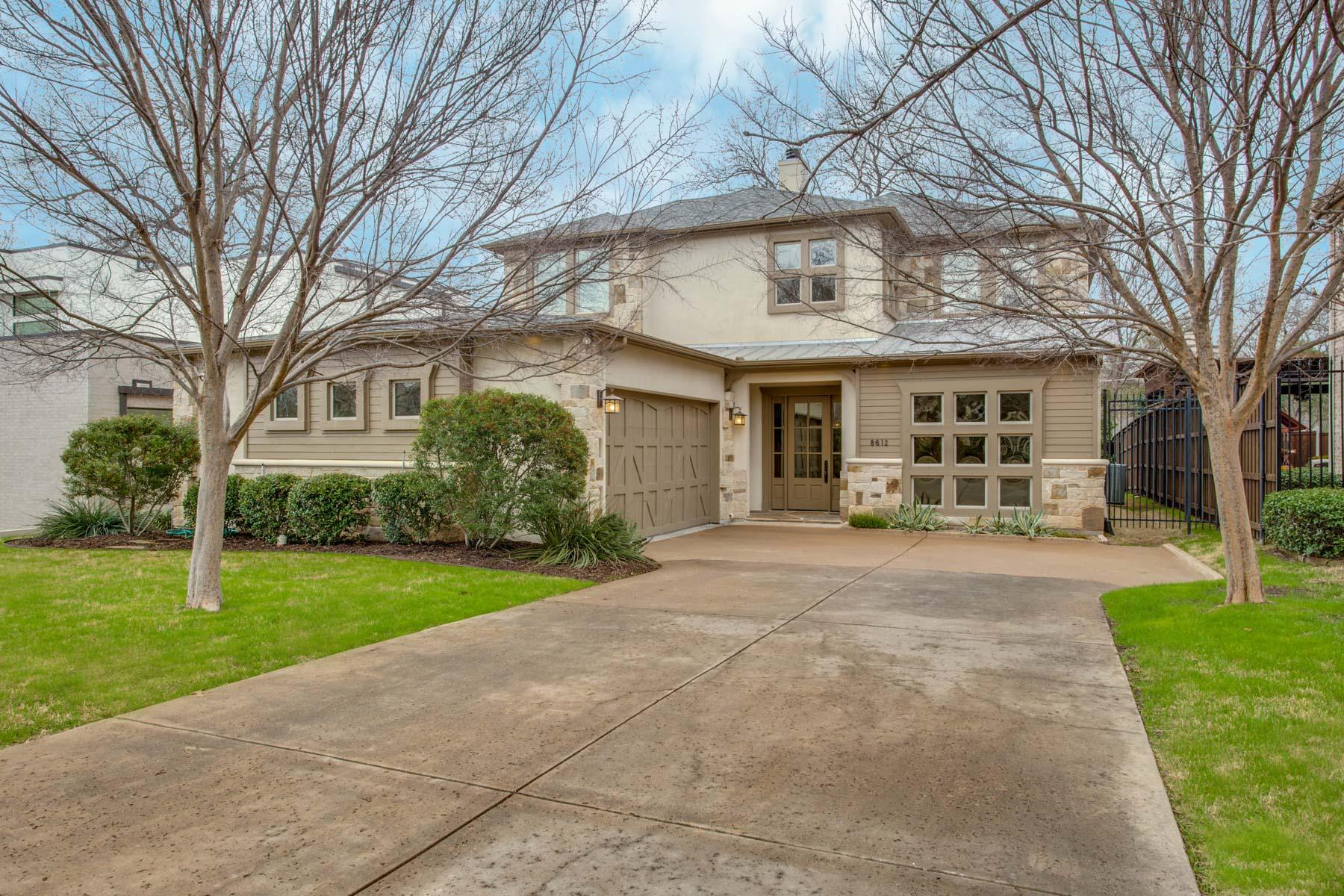 واحد منزل الأسرة للـ Sale في 8612 Glencrest Lane Dallas, Texas, 75209 United States