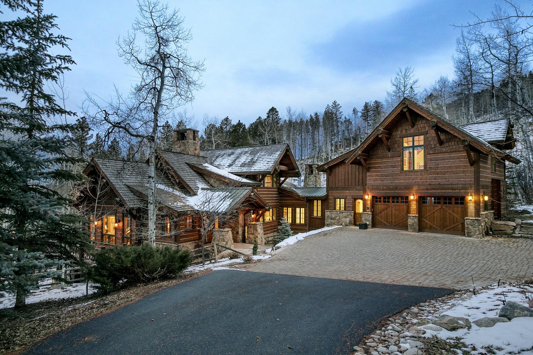 Частный односемейный дом для того Продажа на Custom Elk Springs Residence 45 Elk Spring Ct, Cordillera, Edwards, Колорадо, 81632 Соединенные Штаты