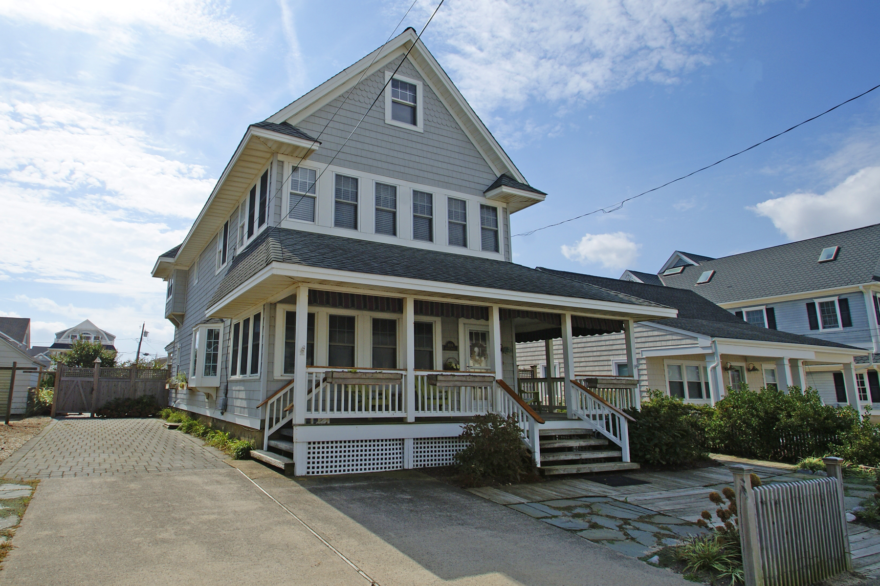Single Family Home for Sale at Charming Ocean Block Home With Ocean Views 104 8th Avenue, Normandy Beach, New Jersey 08739 United States