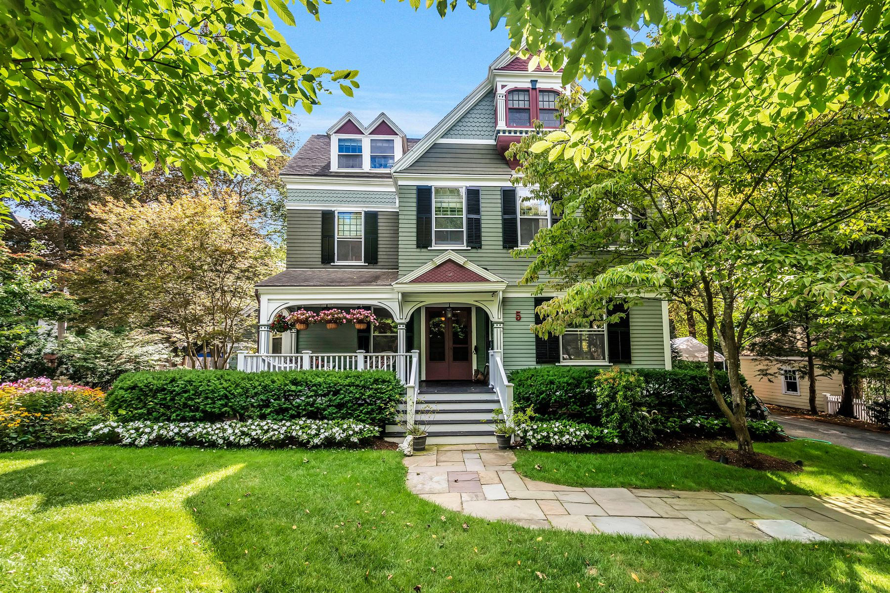 Single Family Home for Sale at Stunning Winchester Colonial with Carriage House 5 Winthrop St Winchester, Massachusetts 01890 United States