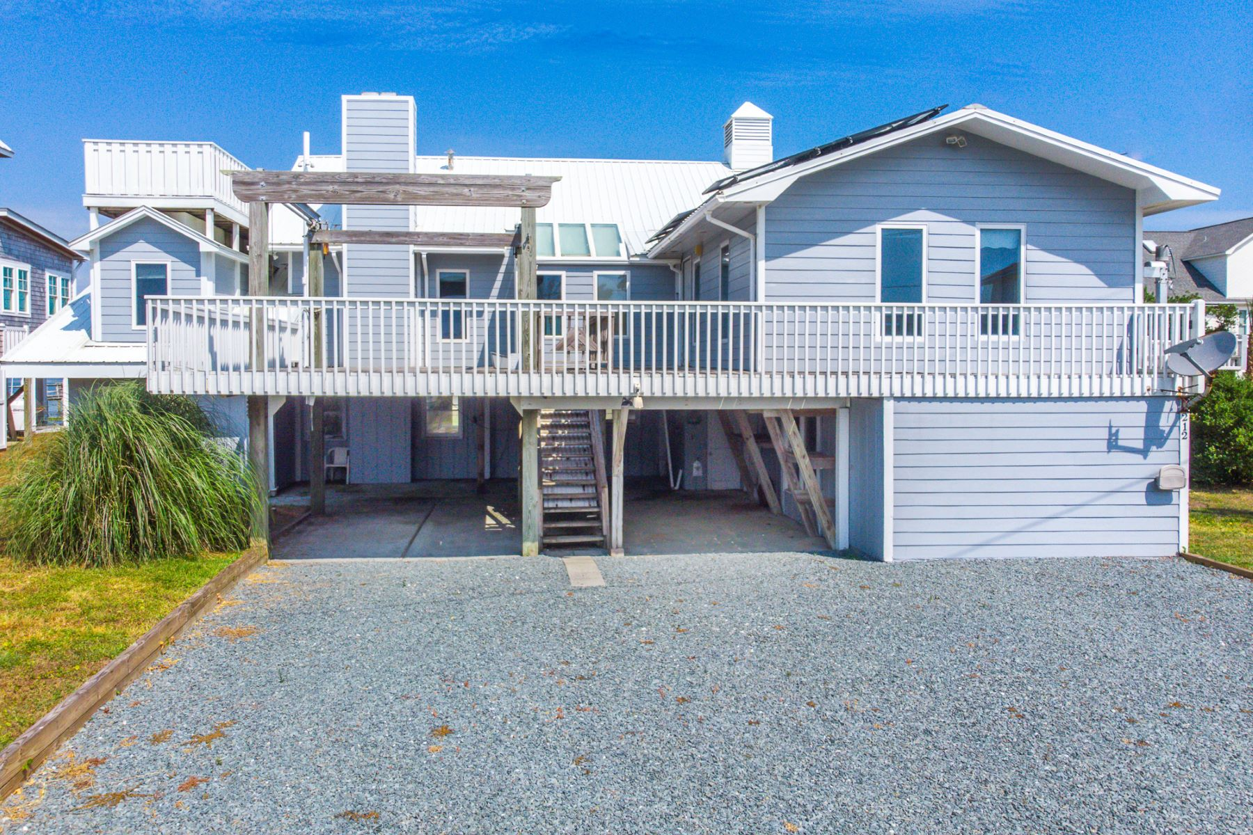 Single Family Homes for Active at Sound Front Unique Beach Home 212 Bridgers Avenue Topsail Beach, North Carolina 28445 United States