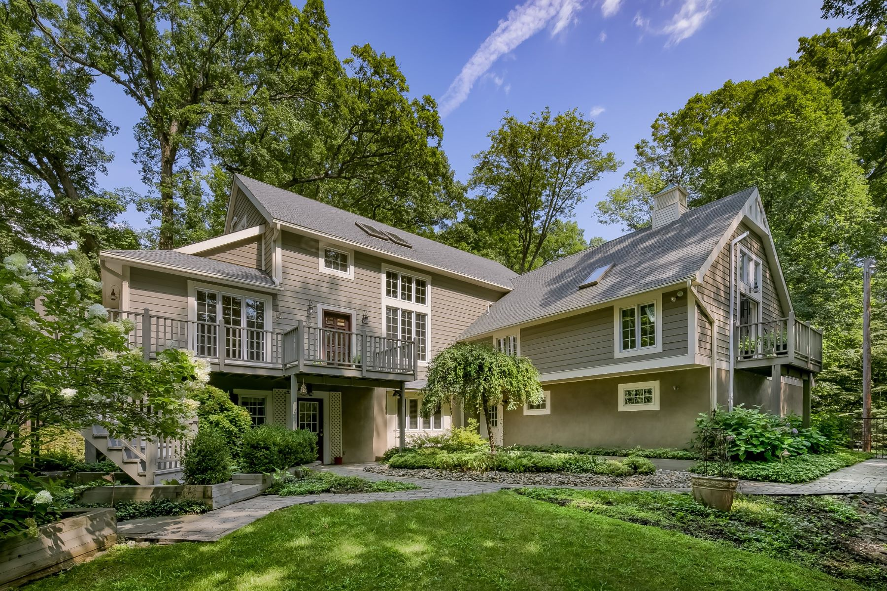 Single Family Homes for Sale at Stunning Custom Retreat 55 Mt Airy Road Basking Ridge, New Jersey 07920 United States