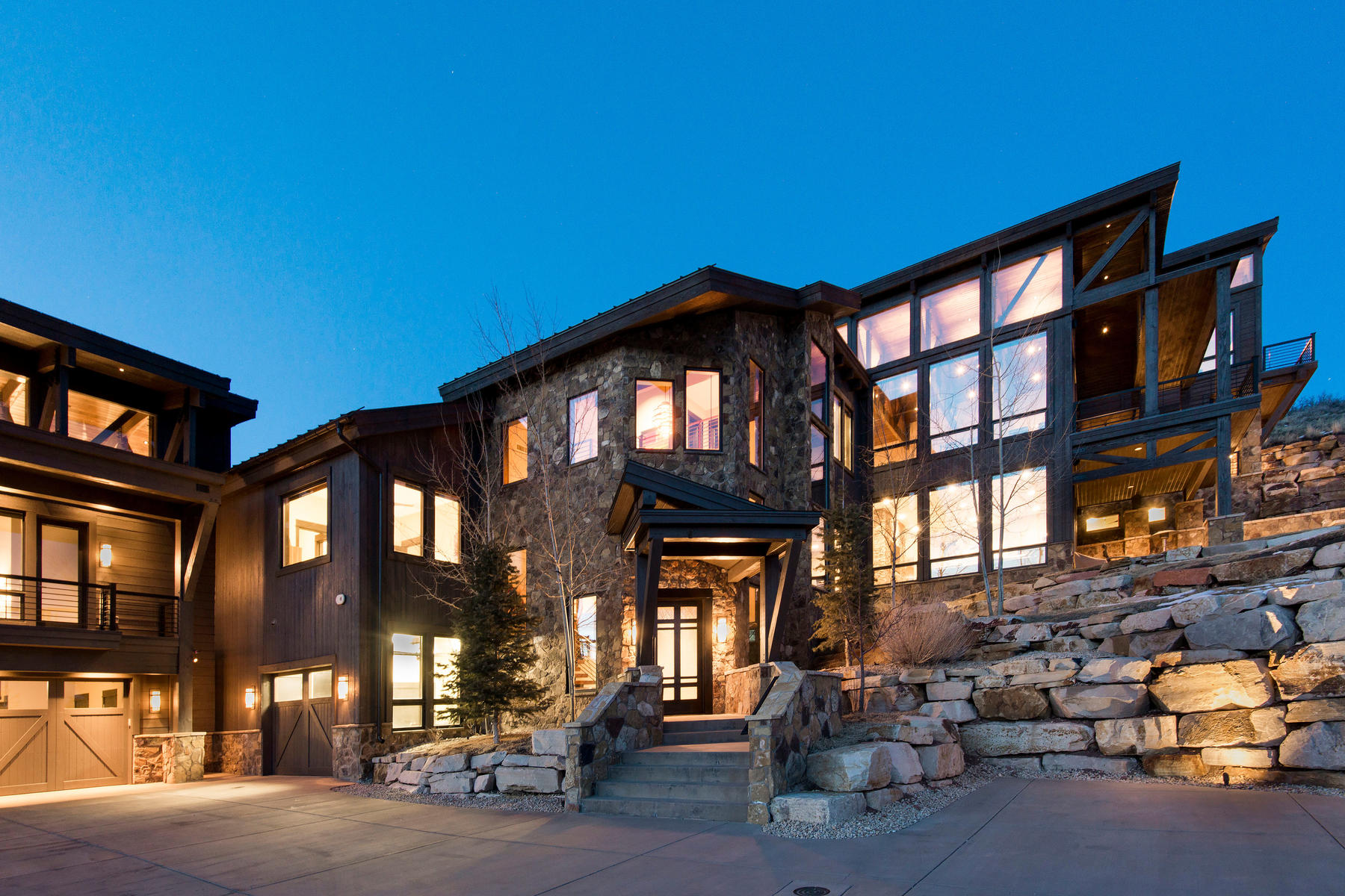Maison unifamiliale pour l Vente à Deer Valley Mountain Contemporary Masterpiece! 11380 N Snowtop Rd, Park City, Utah, 84060 États-Unis