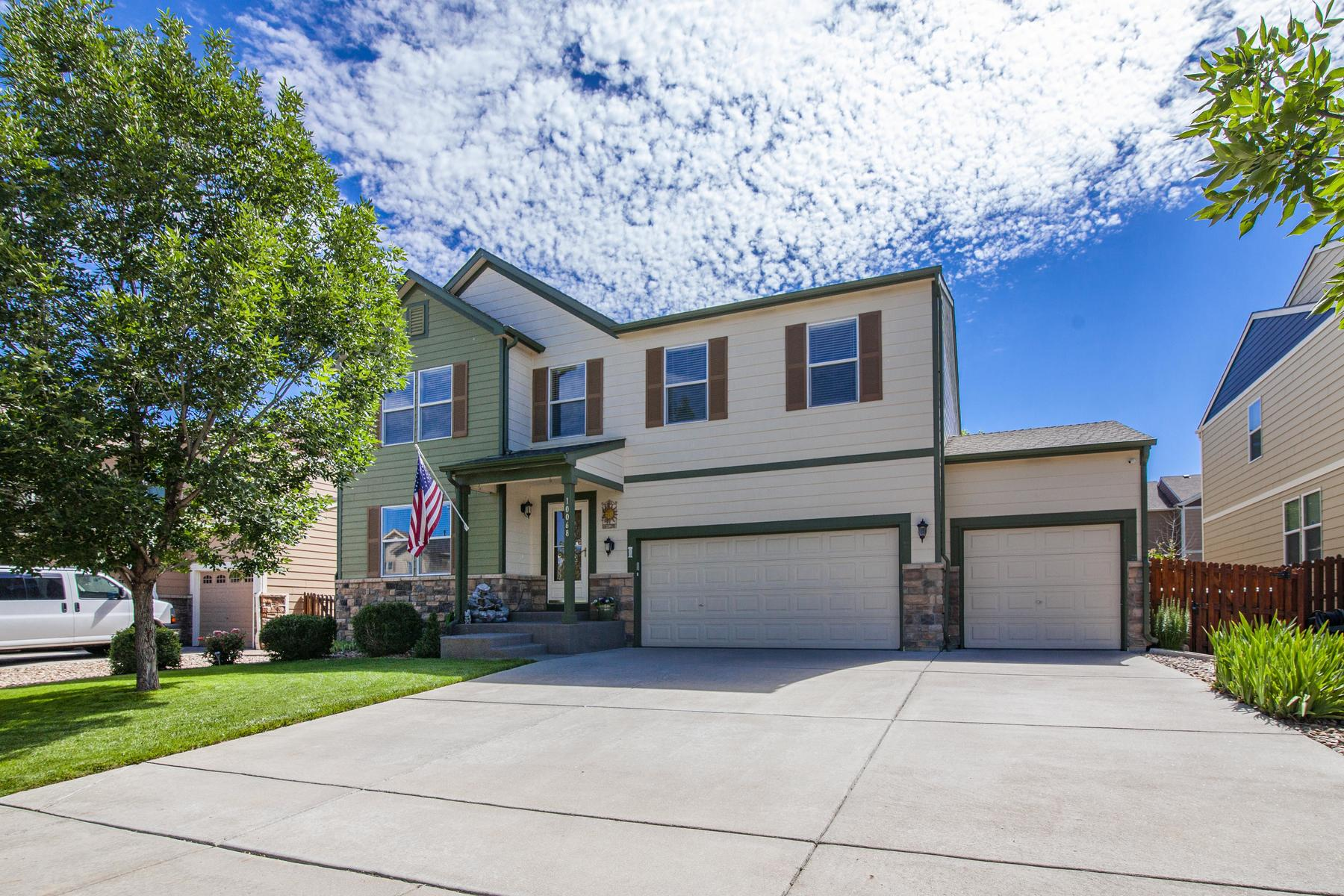 Single Family Homes for Sale at Welcome home to this meticulously maintained and freshly painted Harvest Meadows 10068 Granby St, Commerce City, Colorado 80022 United States