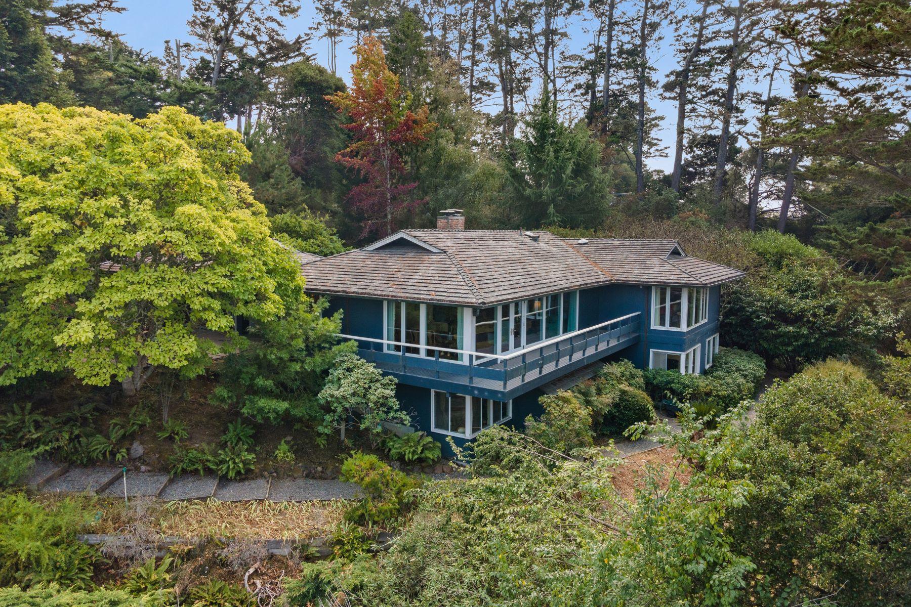 Single Family Homes pour l Vente à Private Tiburon Estate 21 Tanfield Road, Tiburon, Californie 94920 États-Unis