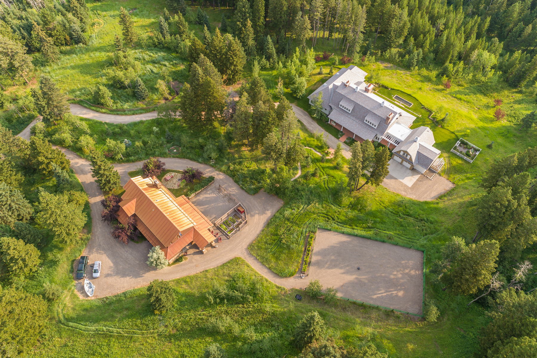 Single Family Homes for Sale at Elegant English-Inspired Country House 950 Martinez Spring Road Bozeman, Montana 59718 United States